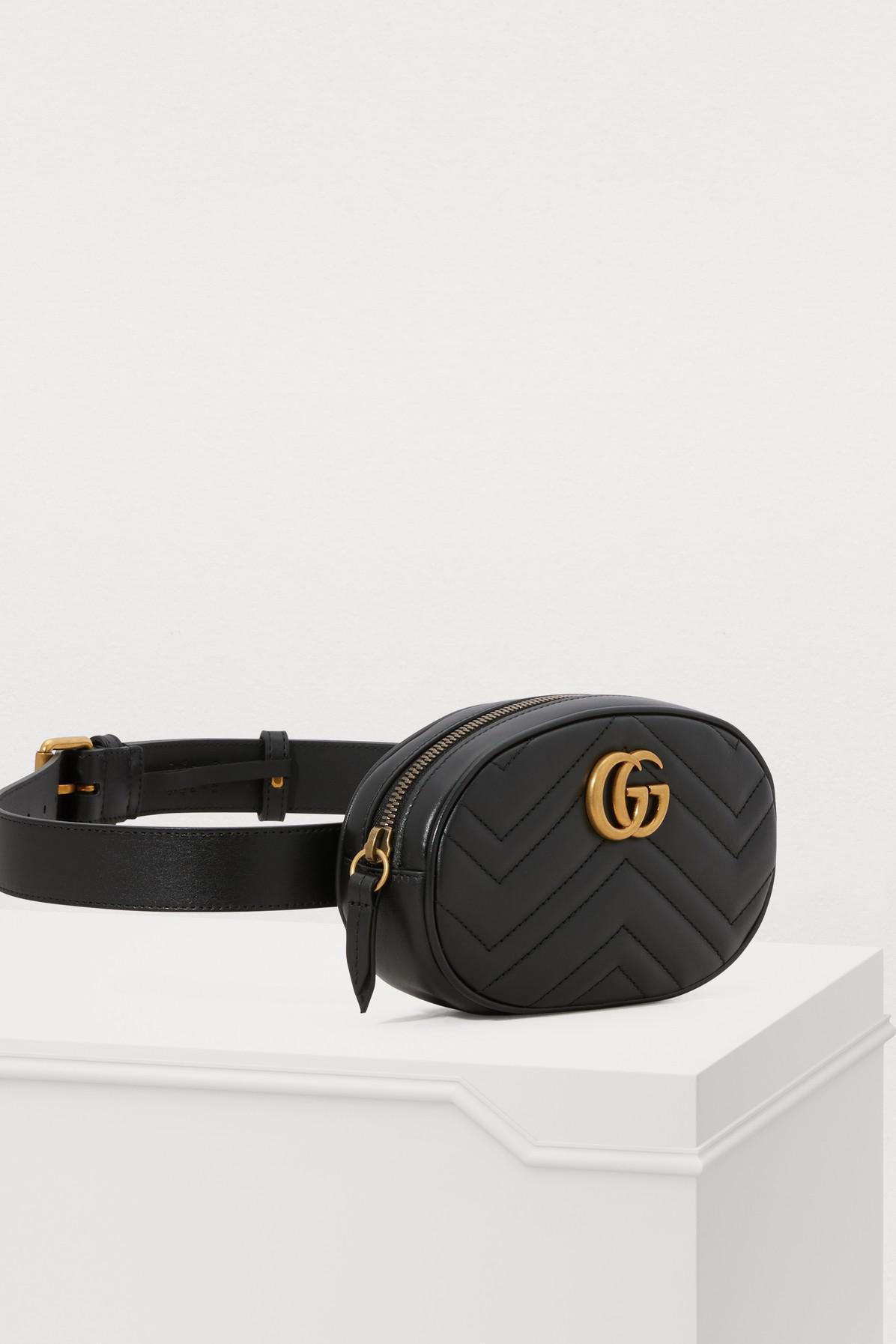 31825cbac Gucci - Black GG Marmont Belt Bag - Lyst. View fullscreen