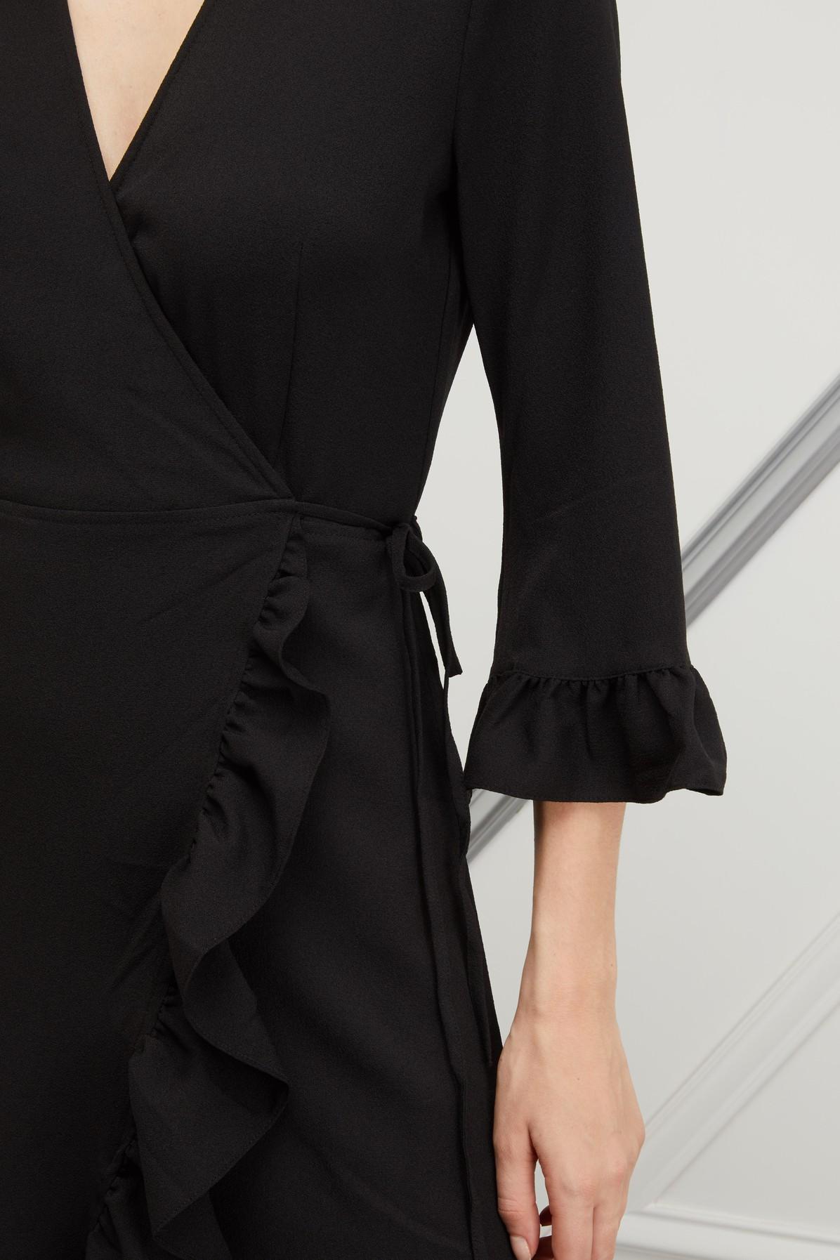 645c0d59 Ganni - Black Clark Wrap Dress - Lyst. View fullscreen