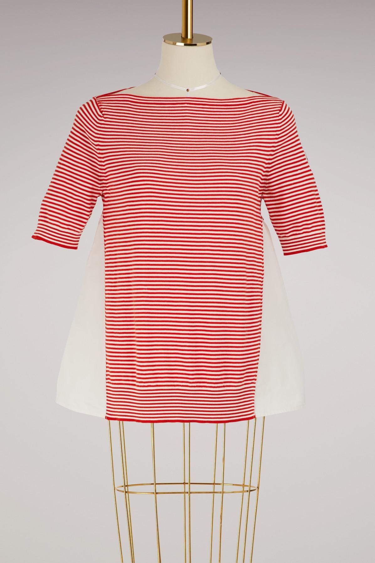 Maille Rouge T Shirt Lyst En Moncler Coloris BZTPwp