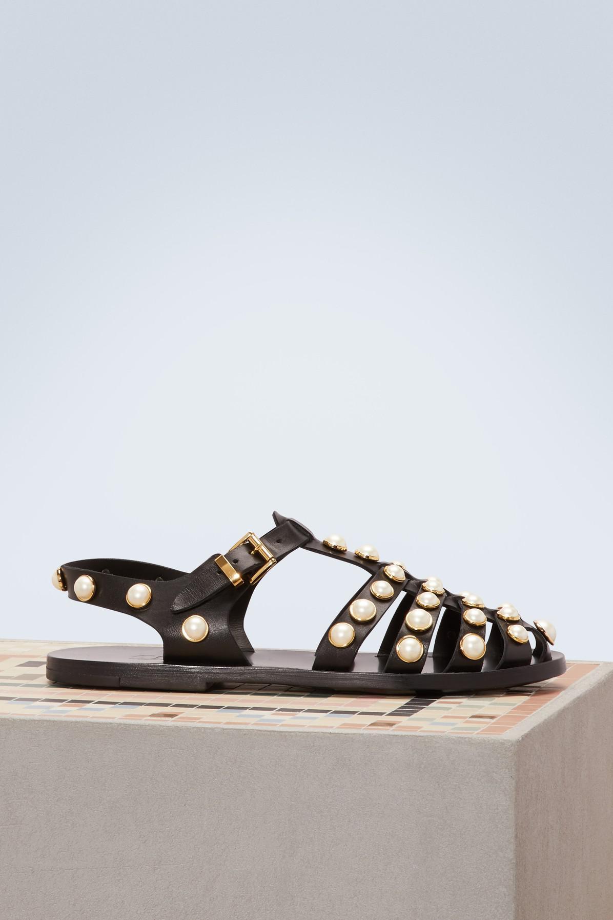 COLIAC Rick Gladiator leather sandals