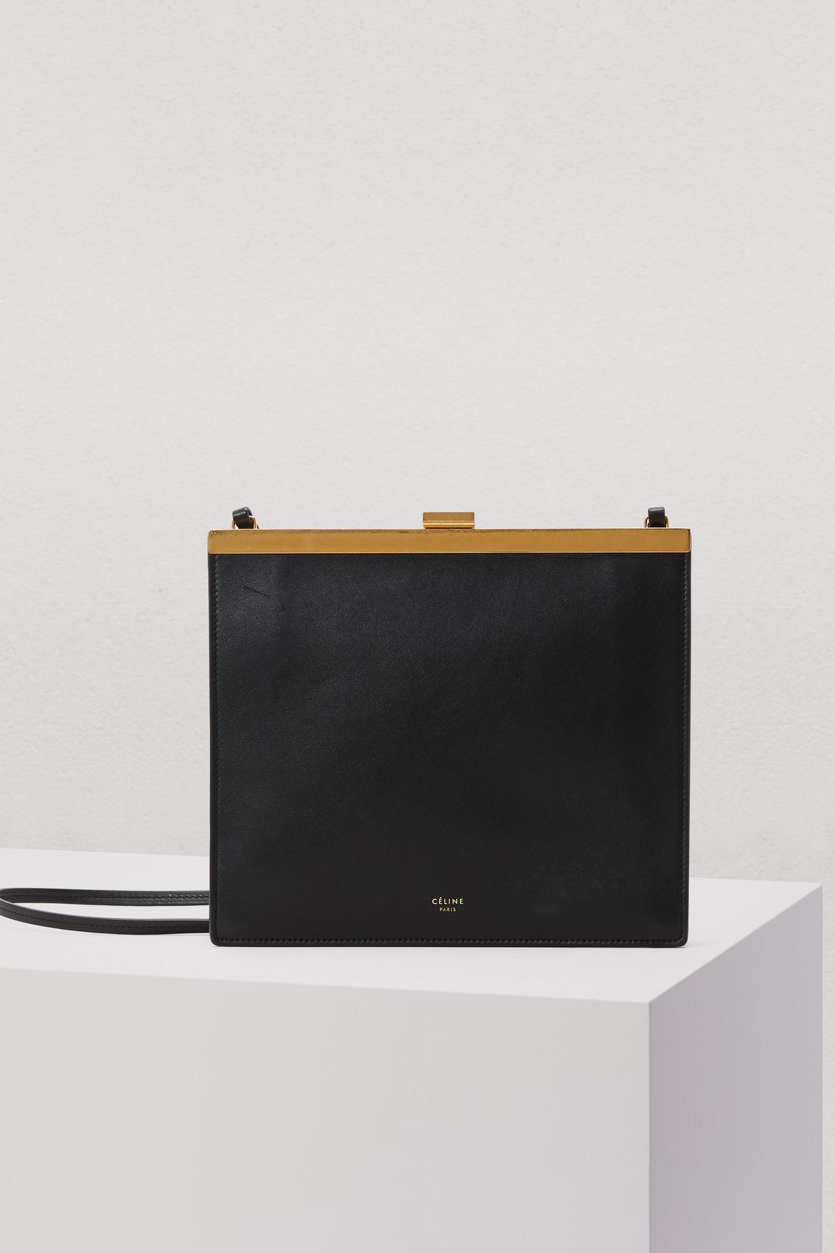 Mini Noir Céline En Kjt13flc Sac Coloris Clasp Modèle Veau Lyst Lisse QtshdCr