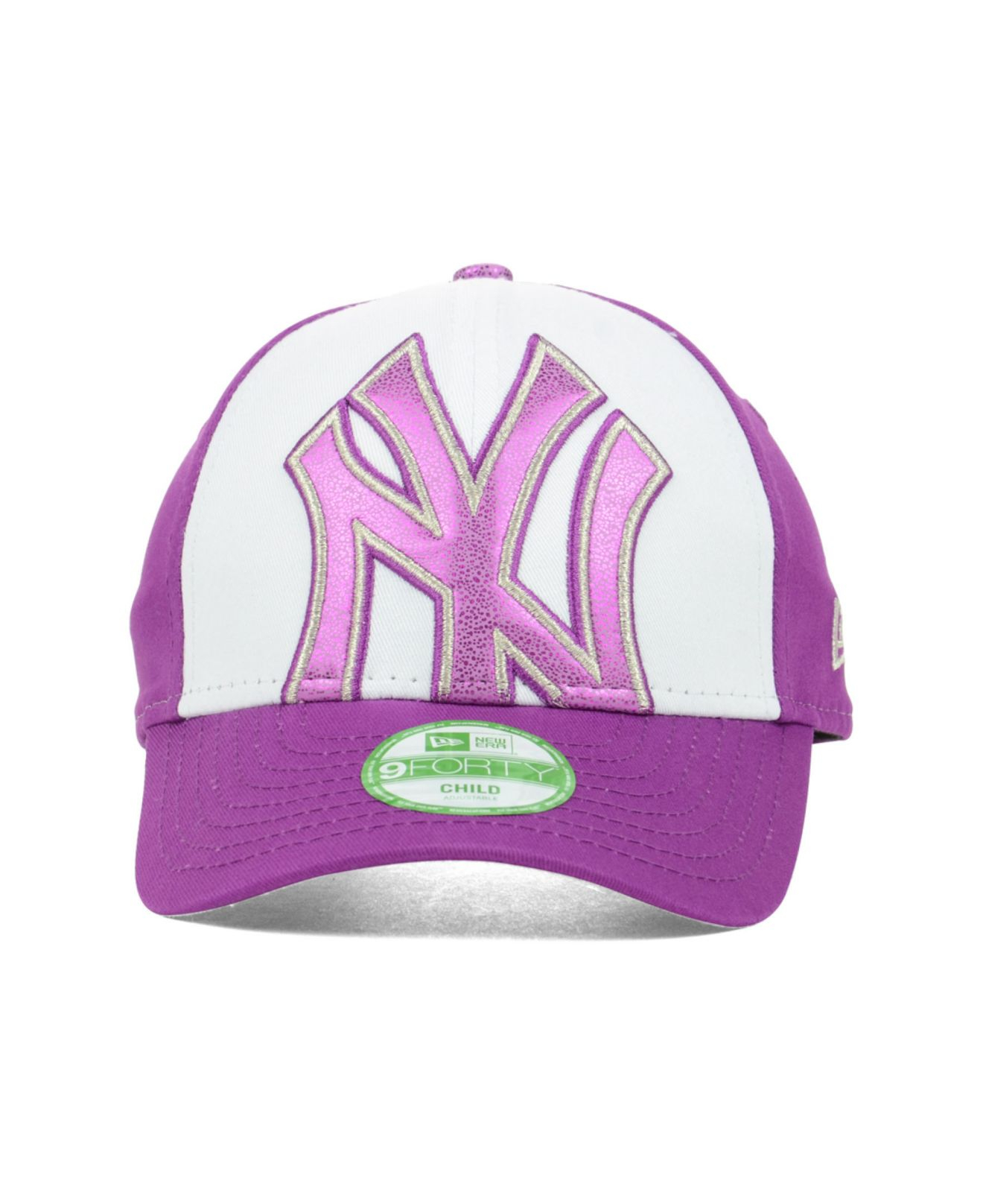 reputable site 43c61 bf139 ... purchase lyst ktz new york yankees glitter filler 9forty cap in purple  40c1b 02ae6