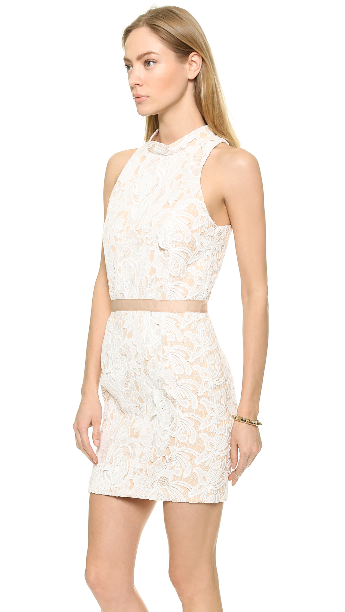 Lyst English Factory Lace Mini Dress Ivory In White