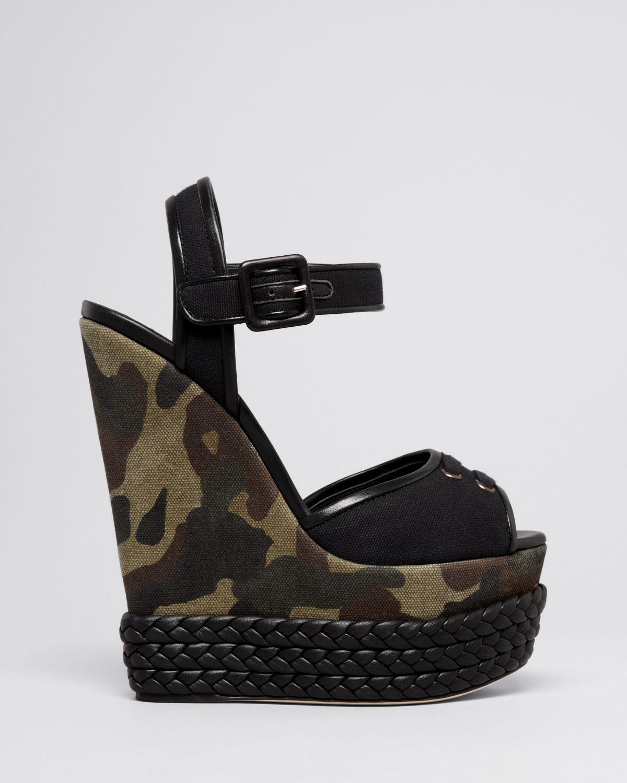 Lyst Giuseppe Zanotti Peep Toe Platform Wedge Sandals