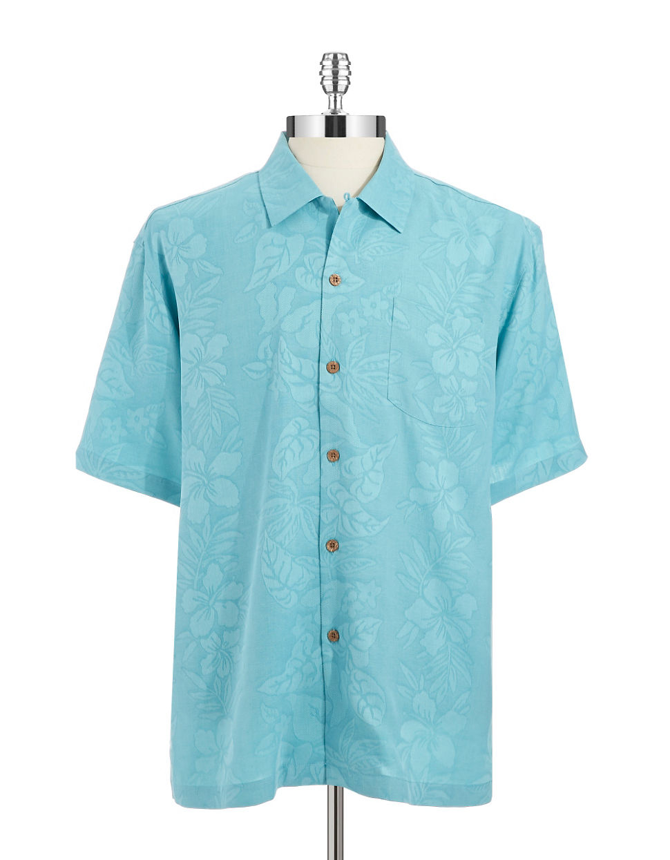 Tommy Bahama Silk Garden Hope Button Front Shirt In Blue