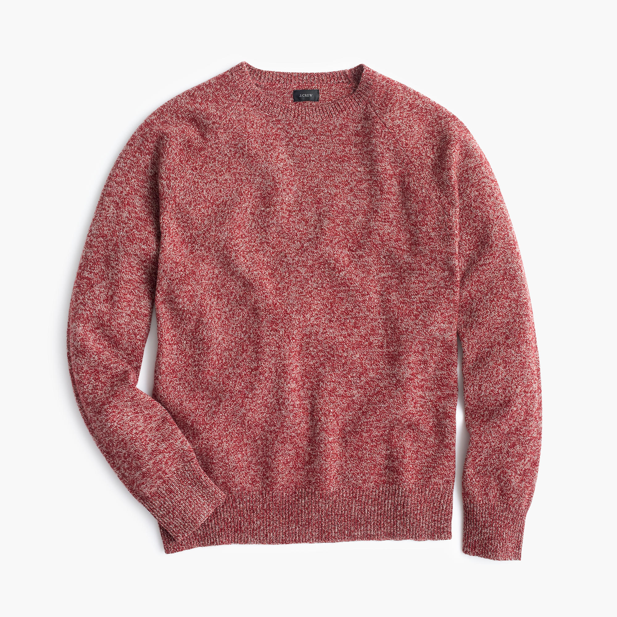 J.crew Marled Lambswool Sweater in Red for Men | Lyst