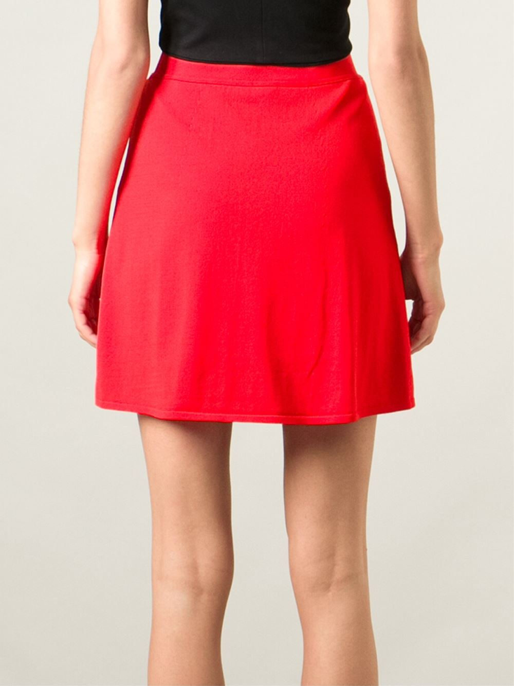 t by wang high waisted skirt in yellow