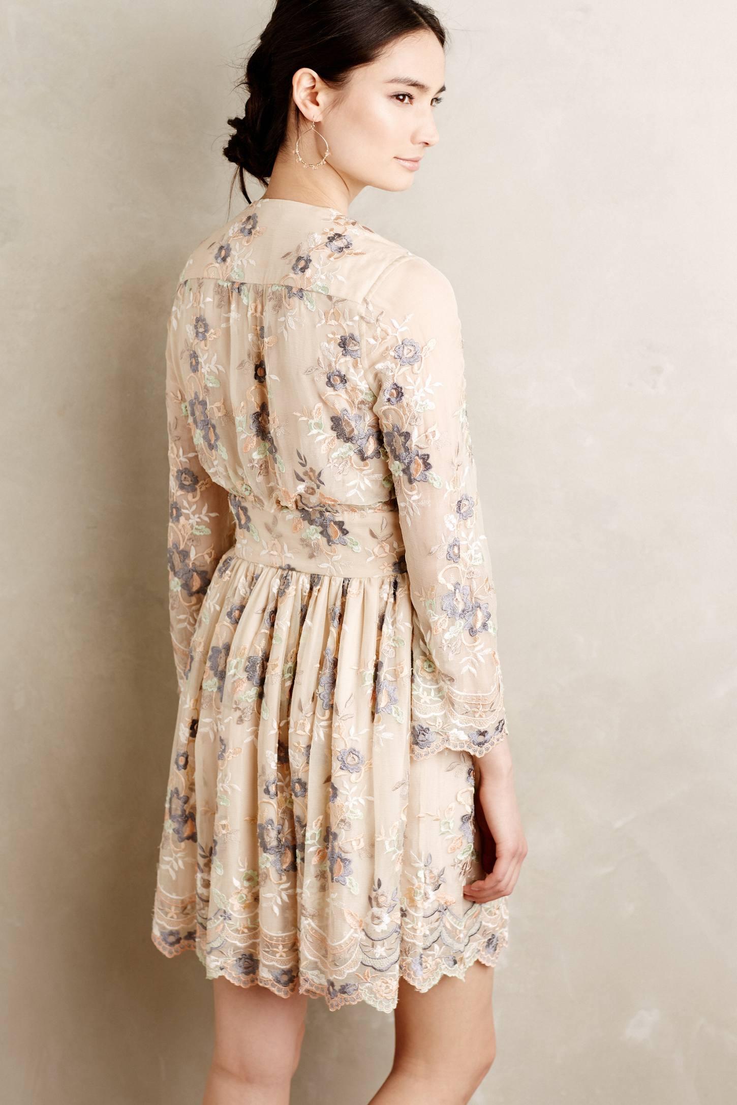 Zimmermann Tristana Embroidered Silk Dress Lyst