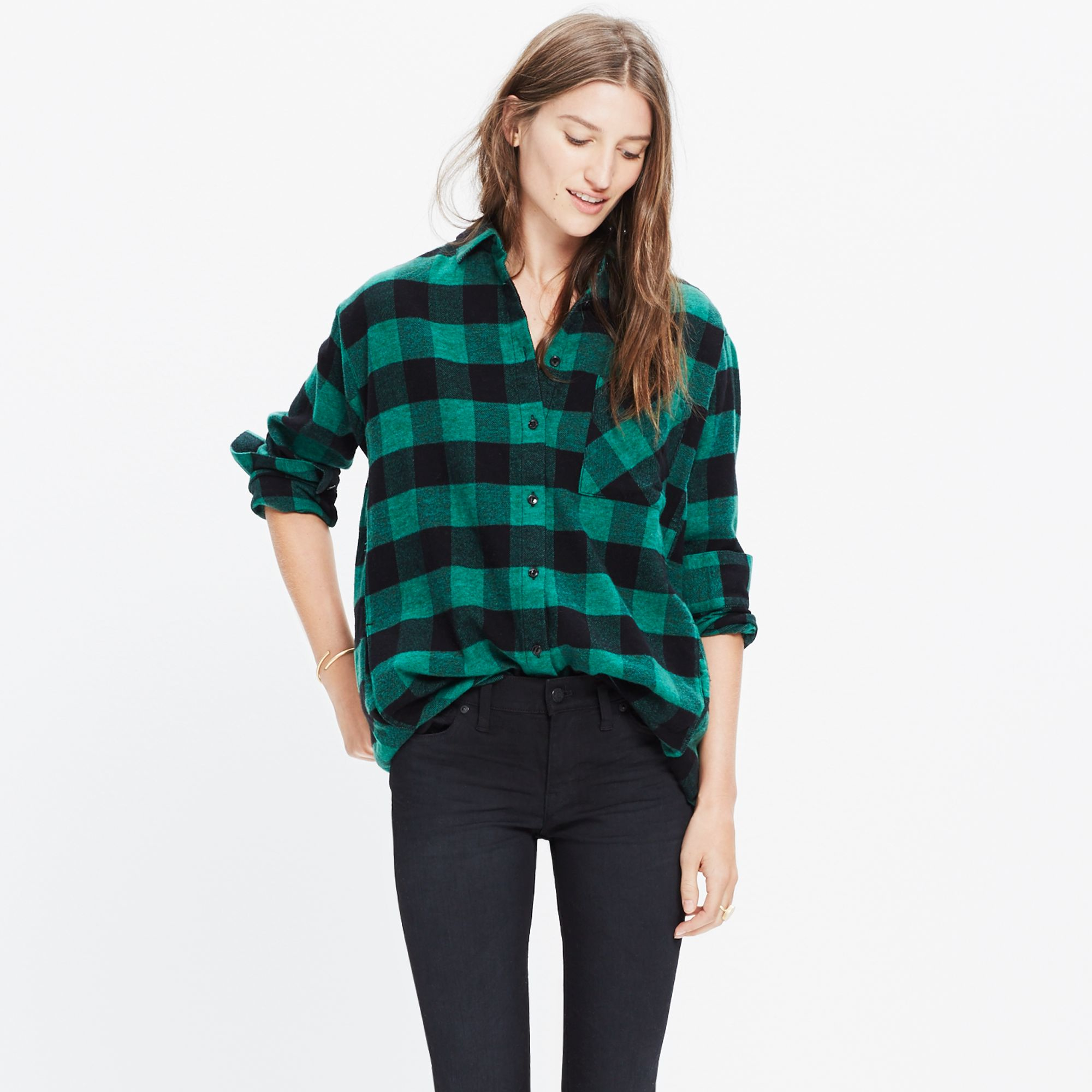 Madewell Flannel Sunday Shirt In Buffalo Check In Black Lyst