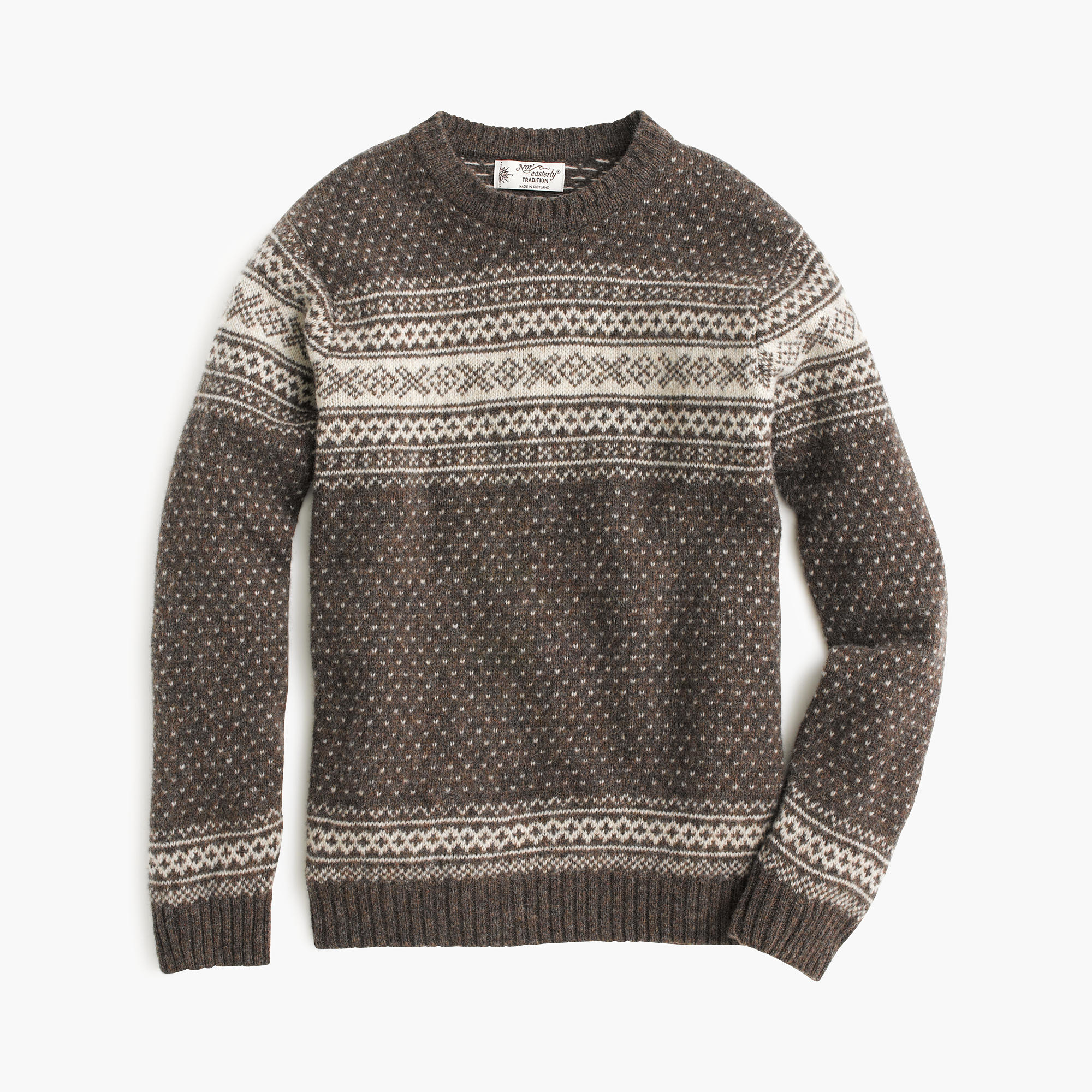 ca2e902127 Lyst - J.Crew Harley Of Scotland Nor easterly Sweater in Gray for Men