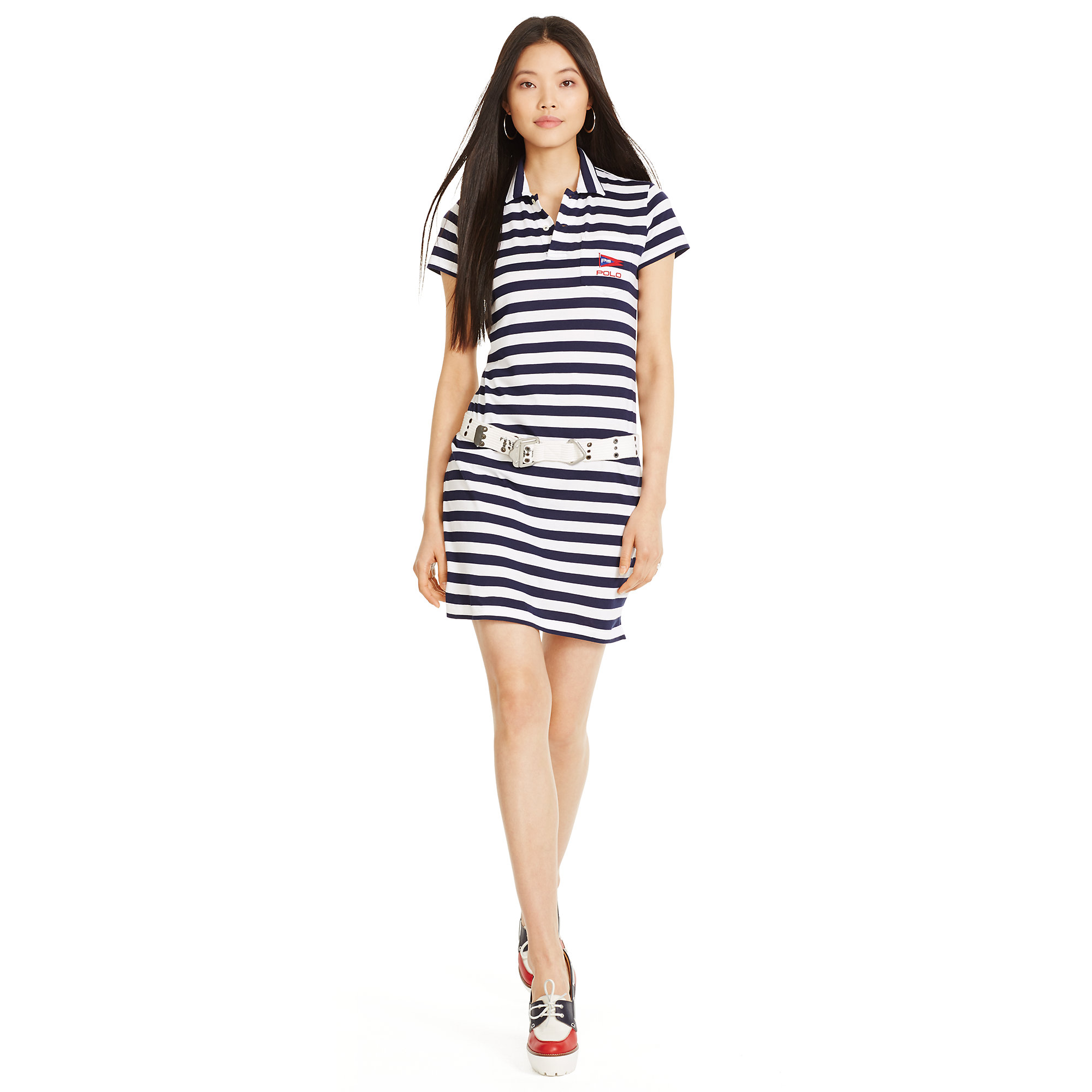 Women's Blue Striped Shirt Dress See more Polo Ralph Lauren Dresses. Striped Cotton Dress $ $ (50% off) 24software.ml Lilly Pulitzer Anne Dress $ Blue and white cotton striped shirt dress from Polo Ralph Lauren. Color: blue Gallery. Previously sold at: Farfetch. Follow 24software.ml: $
