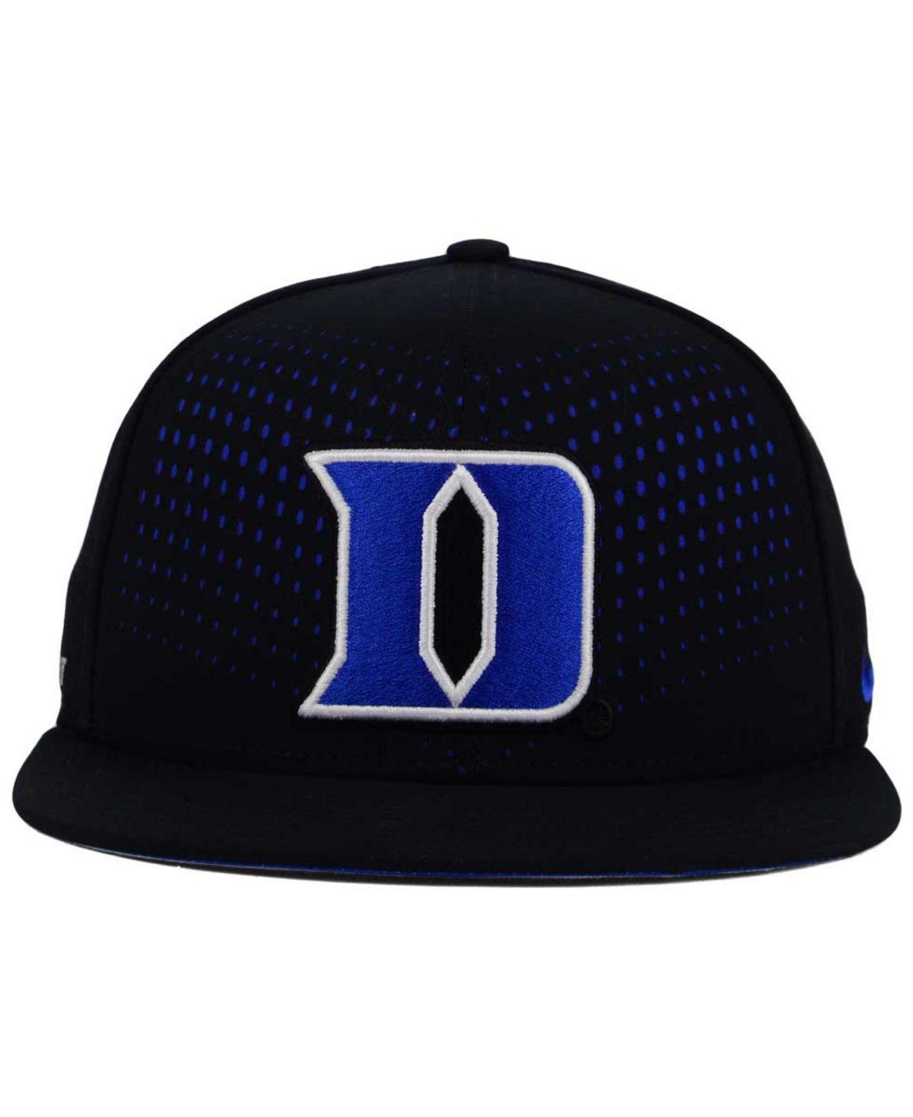 4e87df0879e5d ... australia lyst nike duke blue devils true seasonal snapback cap in  black for men 066b4 53af6