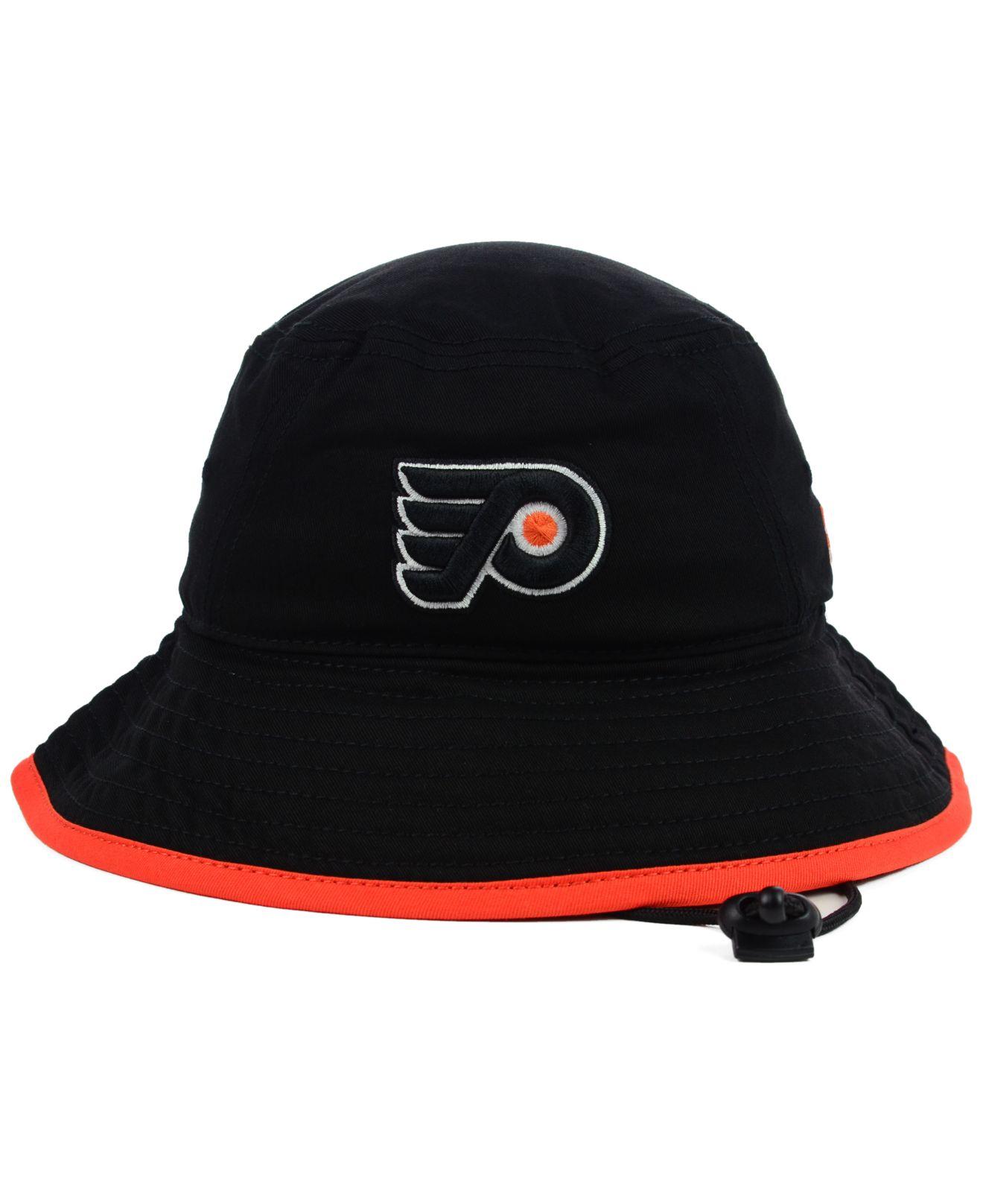 d23d626facb Lyst - KTZ Philadelphia Flyers Basic Tipped Bucket Hat in Black for Men
