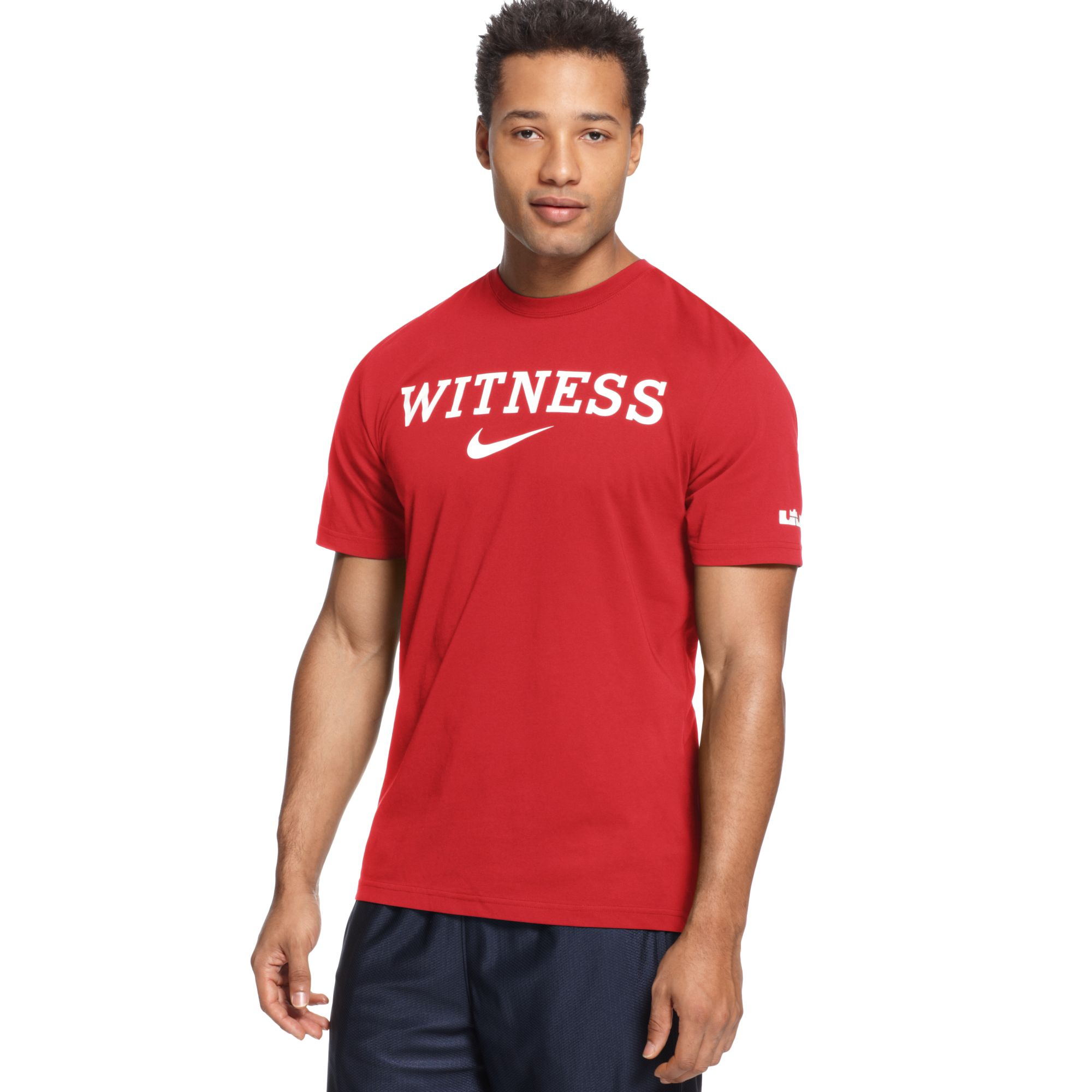 Lyst Nike Lebron Witness Basketball Tshirt In Red For Men