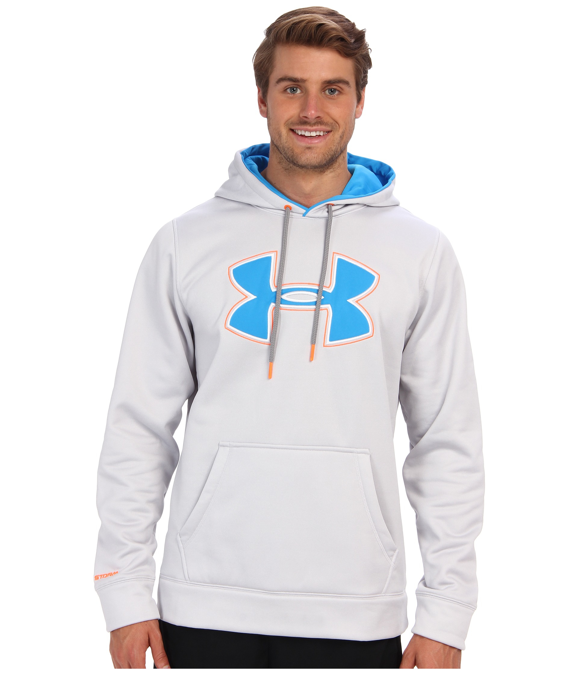 57f6ea59 Under Armour Armour® Fleece Storm Big Logo Hoodie in White for Men ...