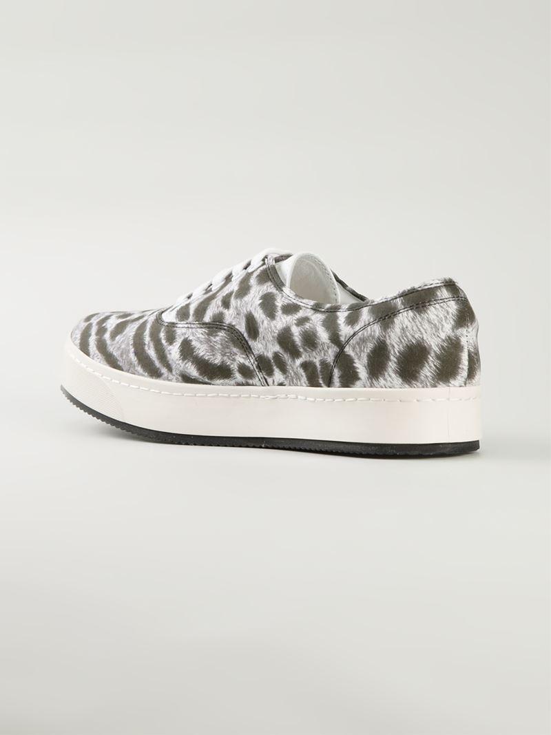 Lyst - Miharayasuhiro Leopard Print Sneakers in Gray for Men 07aebf228