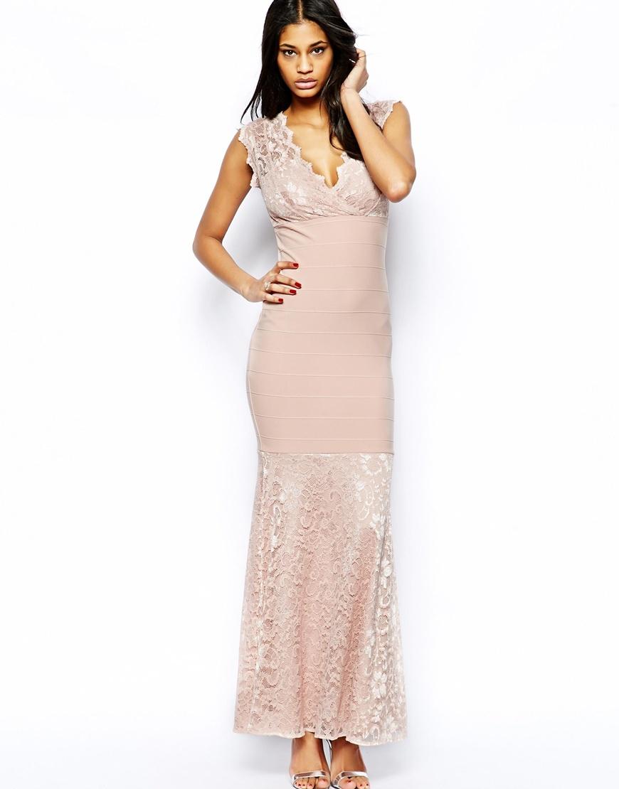Wrap Maxi Dress Camel images