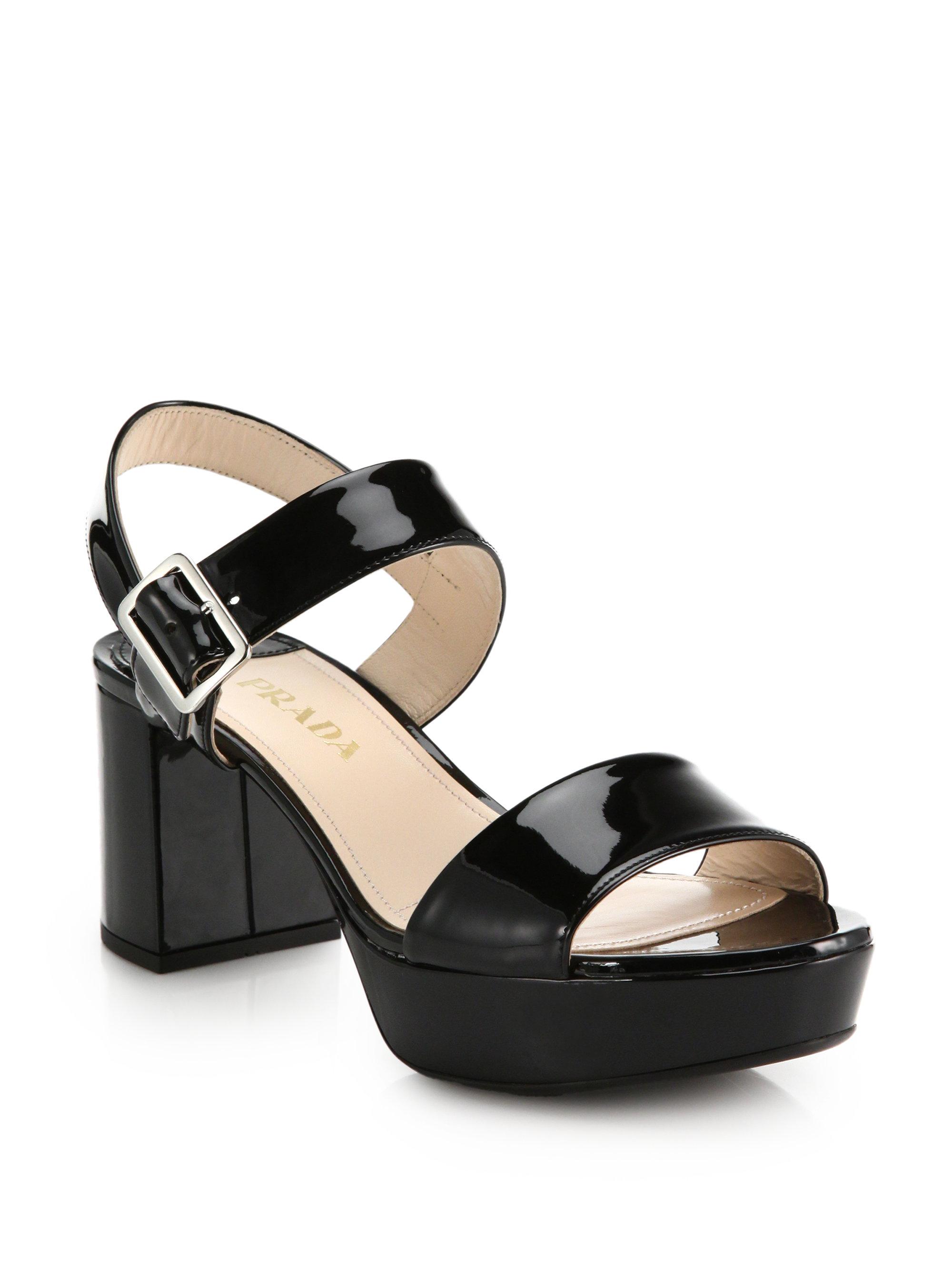 Prada Patent Leather Buckle Sandals big discount cheap online 8DbvkeF