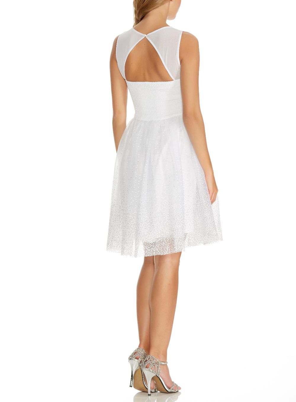 Quiz black and white sequin chiffon dress