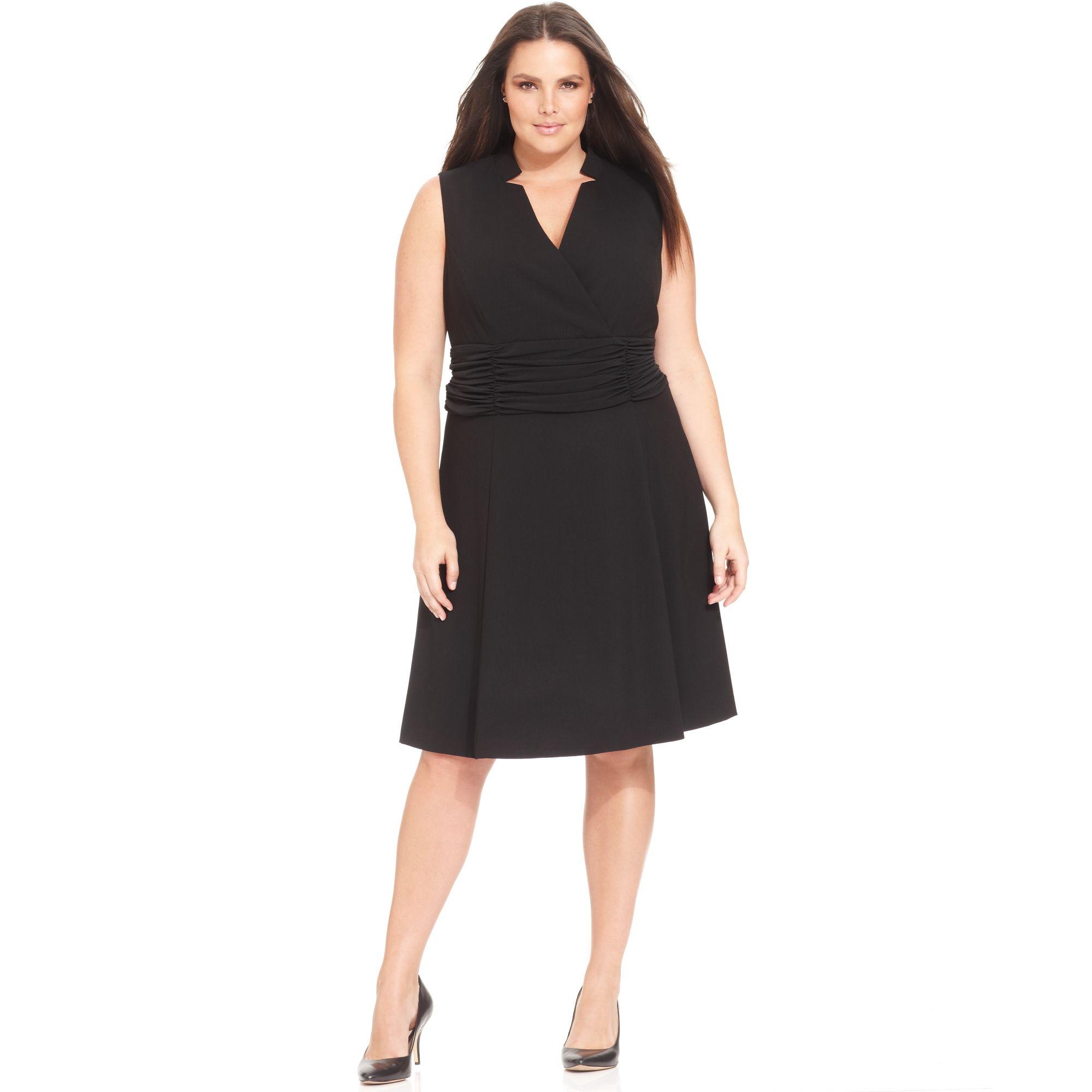 Calvin klein plus size dresses black