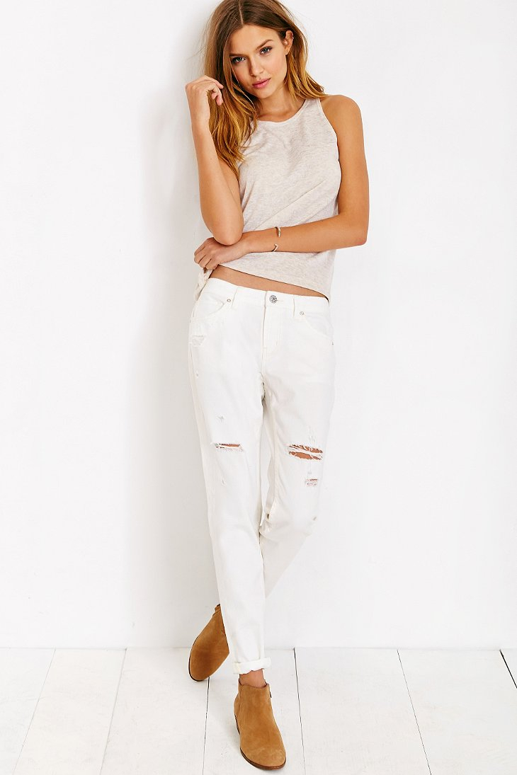 Bdg Slim-Fit Boyfriend Jean - White Wash in White | Lyst
