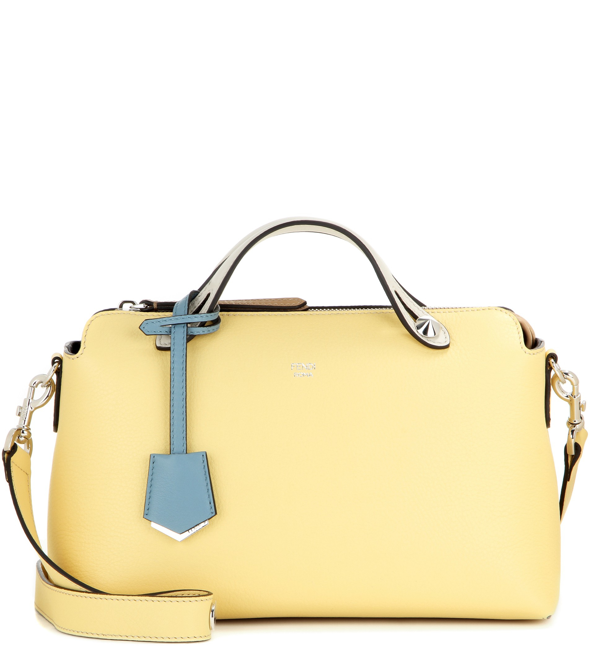b80736b782e0 ... aliexpress fendi by the way leather tote in yellow lyst 55720 98f6f