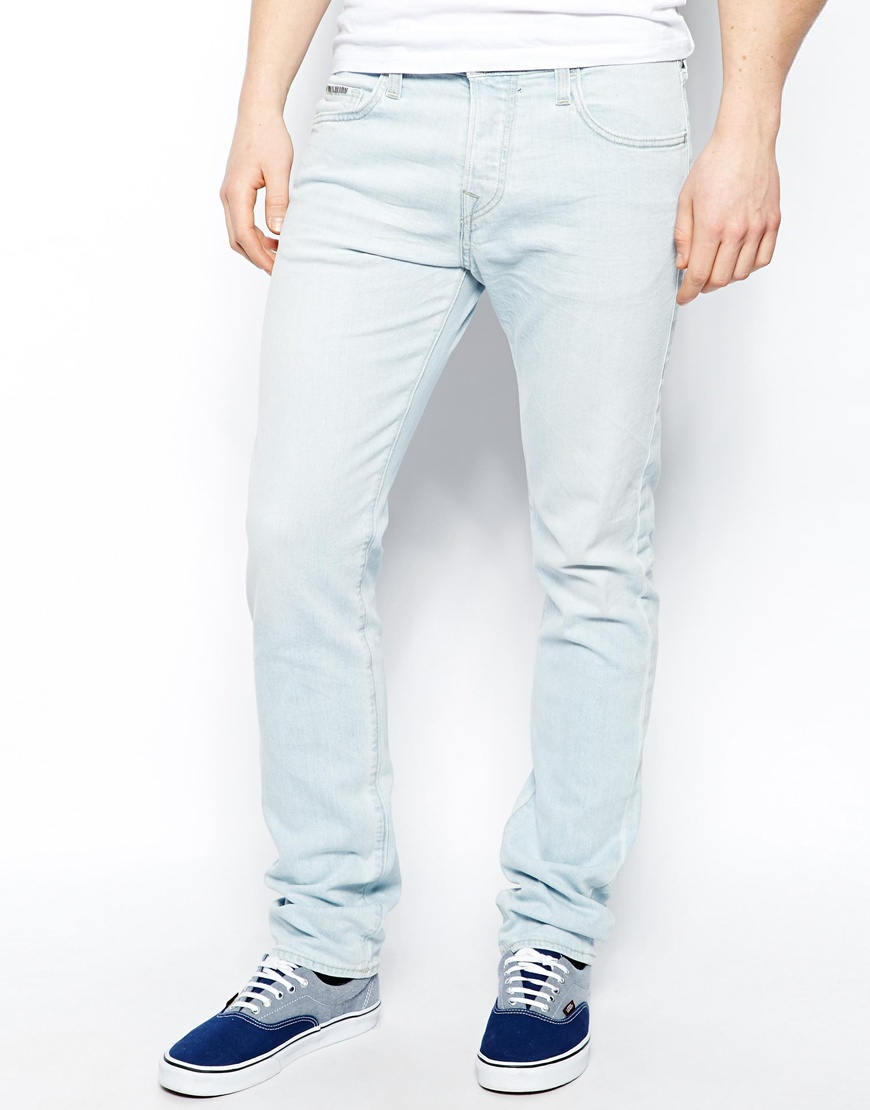 Lyst True Religion Jeans Rocco Slim Fit Sky Bleach Wash