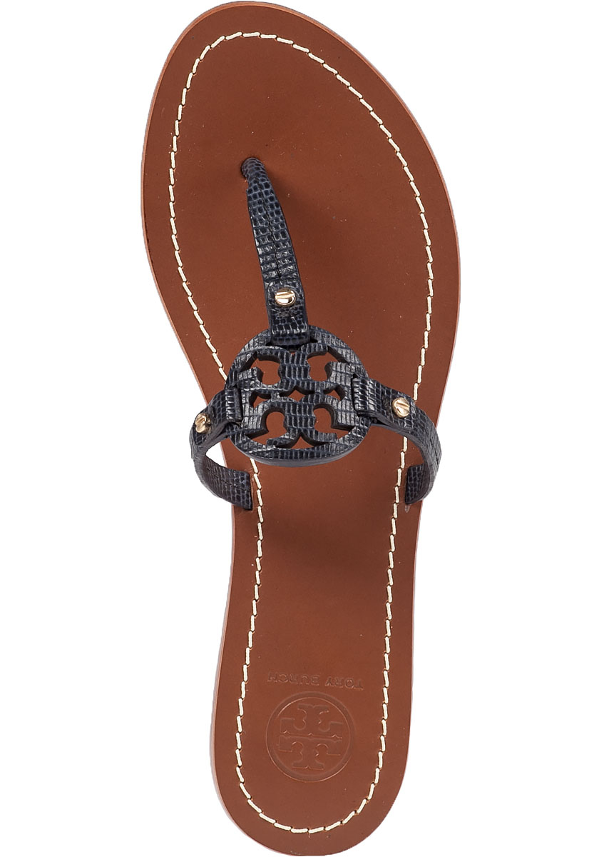 bdf3cf8fa Lyst - Tory Burch Mini Miller Flat Sandals in Blue
