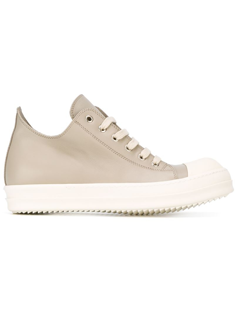 classic lace-up sneakers - Nude & Neutrals Rick Owens 27UAQWbme