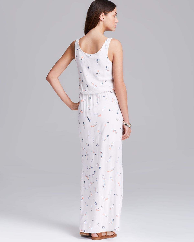 Splendid Maxi Dress California Poppies Print in White | Lyst