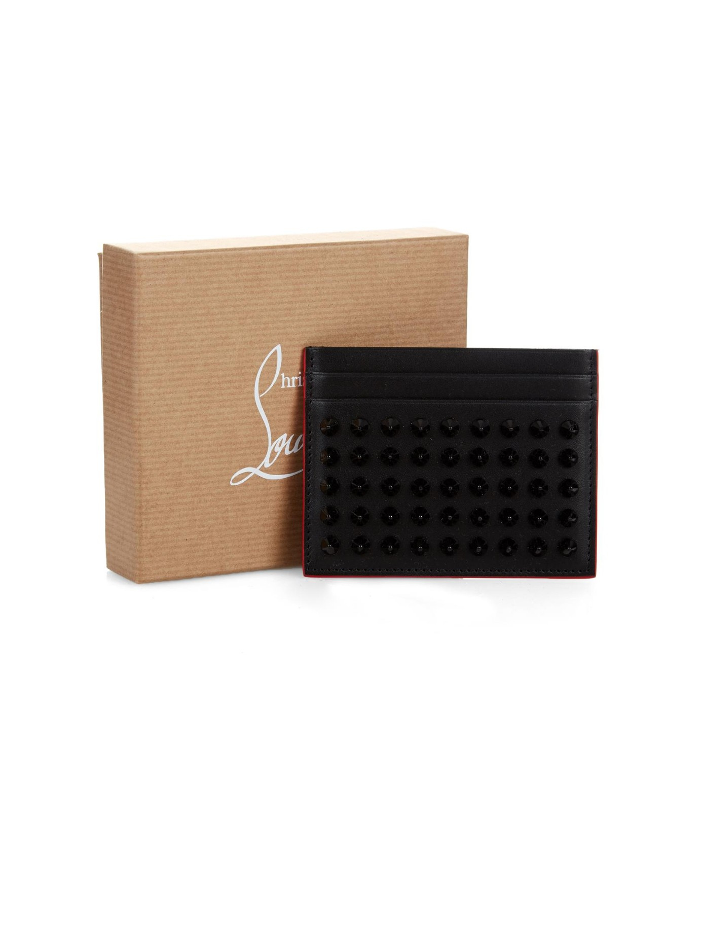 b3907c6a56a0 Lyst - Christian Louboutin Kios Spikes Leather Cardholder in Black for Men