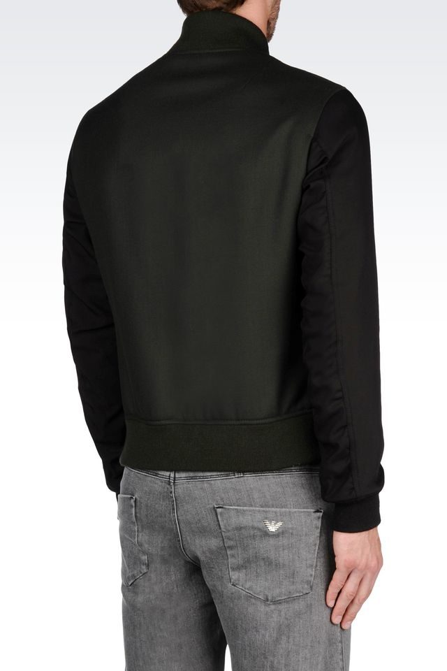 Lyst Emporio Armani Bomber Jacket In Green For Men