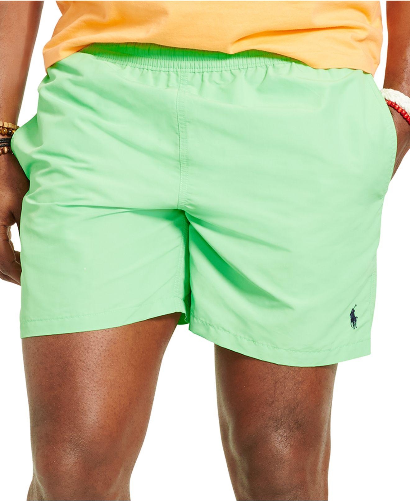 3c5a0a0d1a6 Polo Ralph Lauren Big & Tall Hawaiian Swim Trunks in Green for Men ...