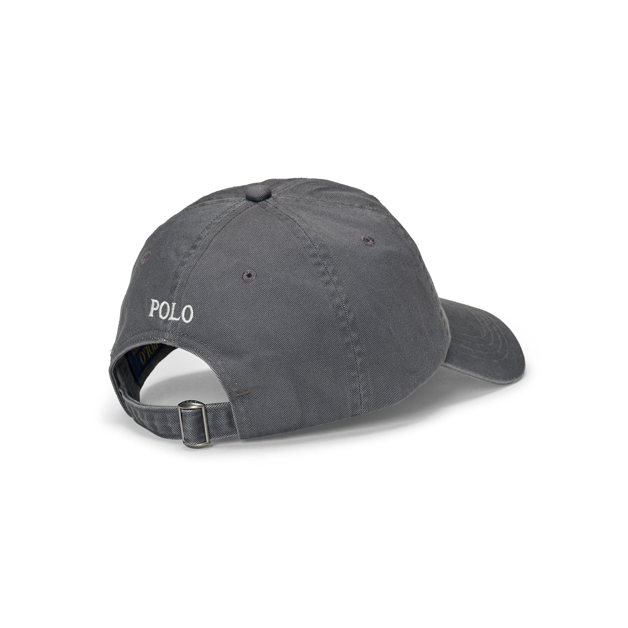 Lyst - Polo Ralph Lauren Cotton Chino Baseball Cap in Gray for Men 24dd6e1f666