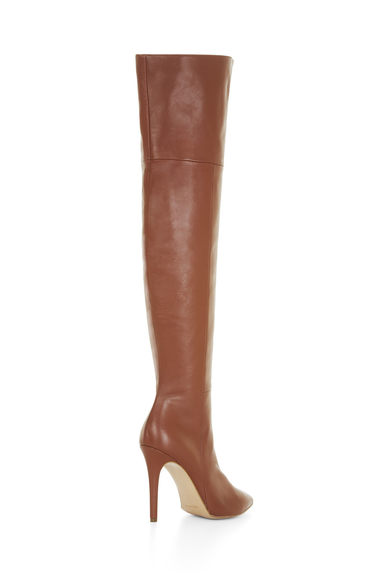 Bcbgmaxazria Abella High-heel Over-the-knee Leather Boots in Brown