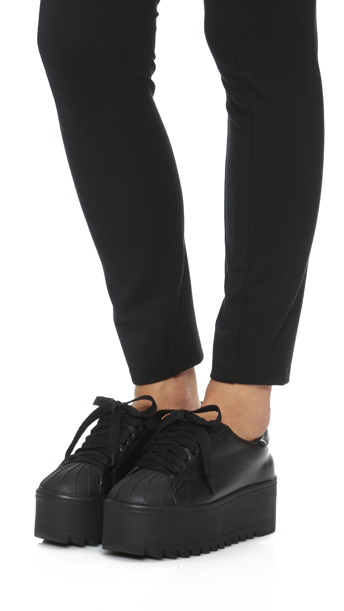 Lyst Jeffrey Campbell Synergy Platform Sneakers In Black
