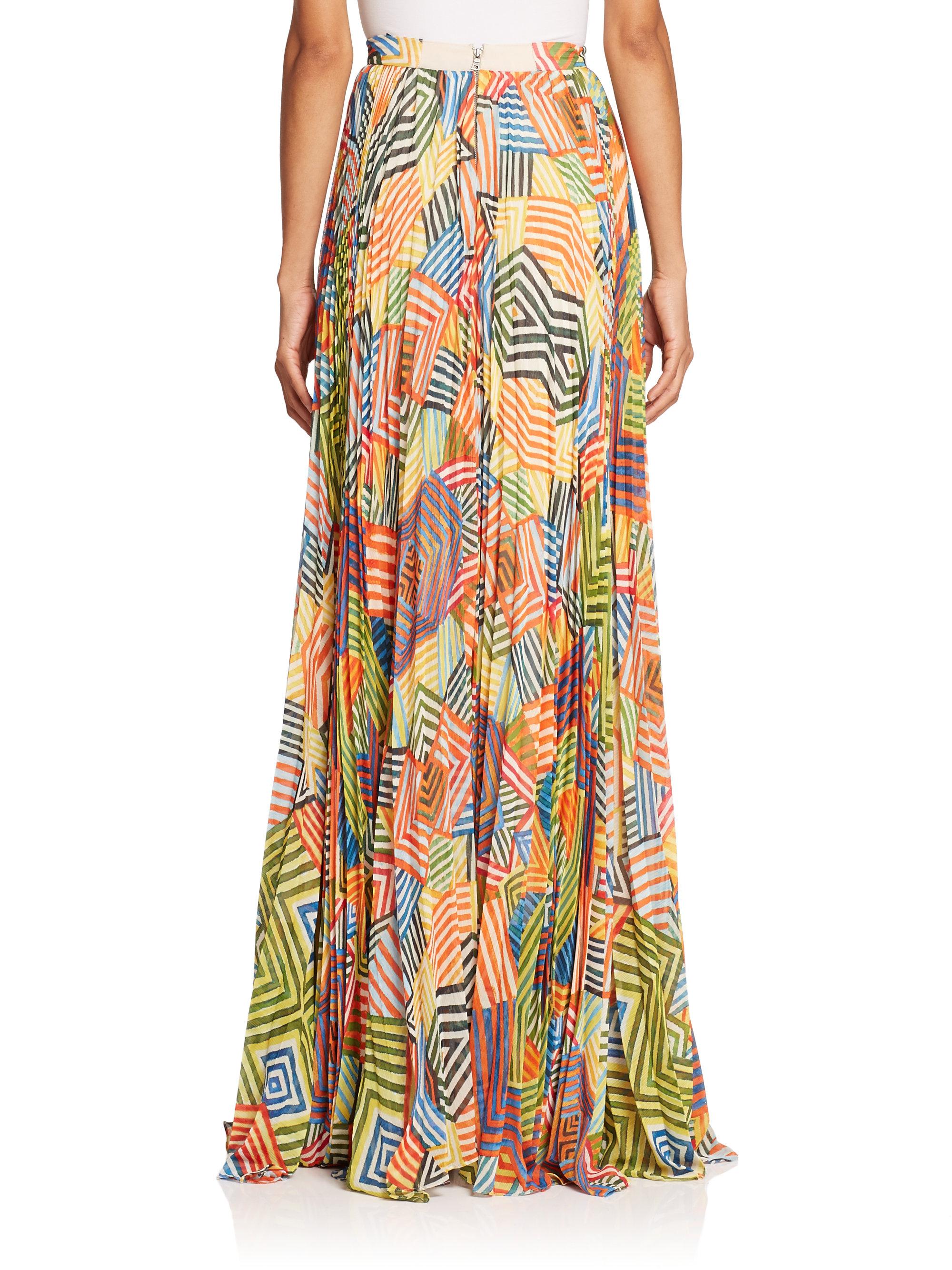 74ff5f9d8b Alice + Olivia Shannon Printed Pleated Maxi Skirt - Lyst