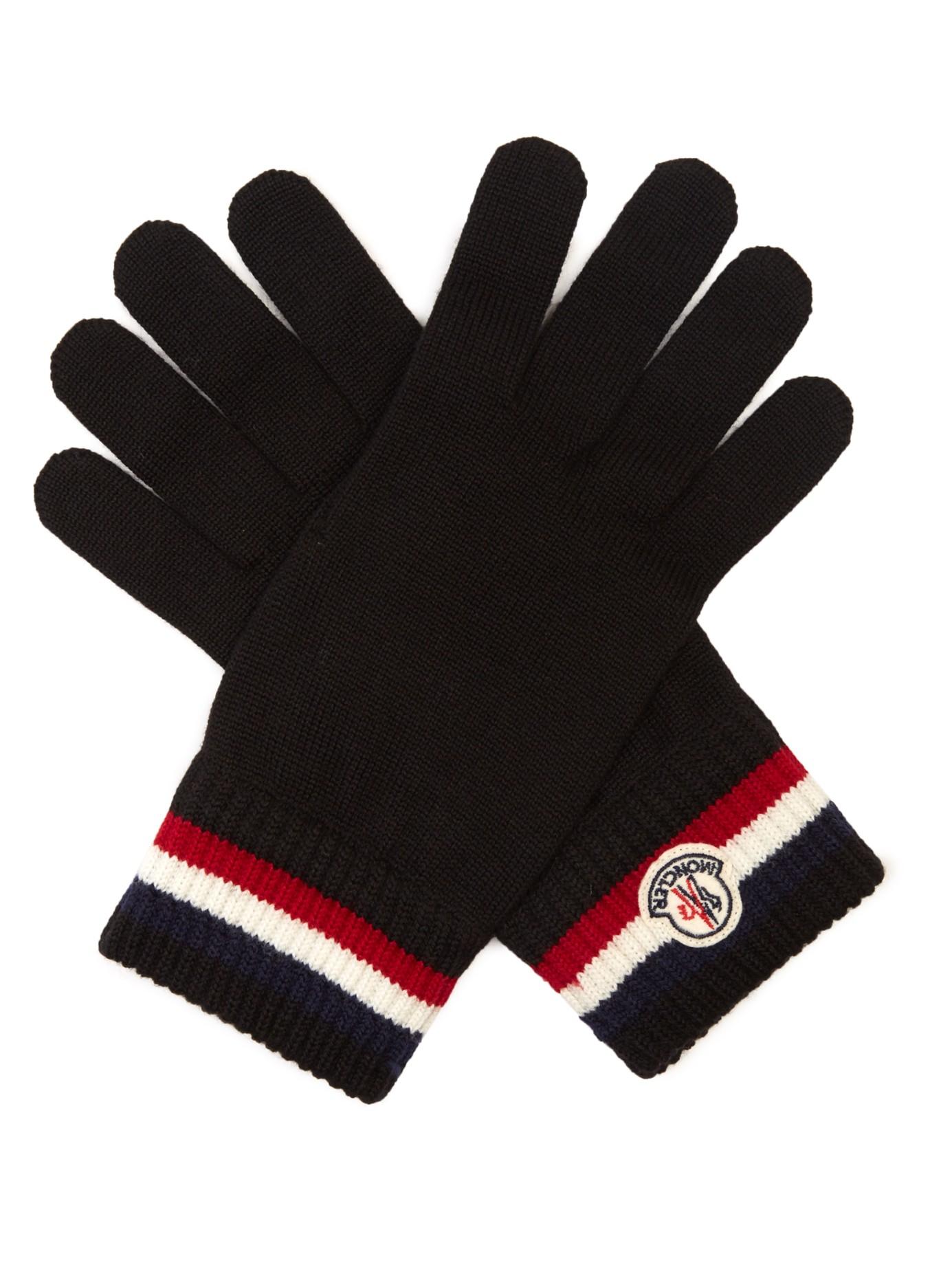 moncler black gloves