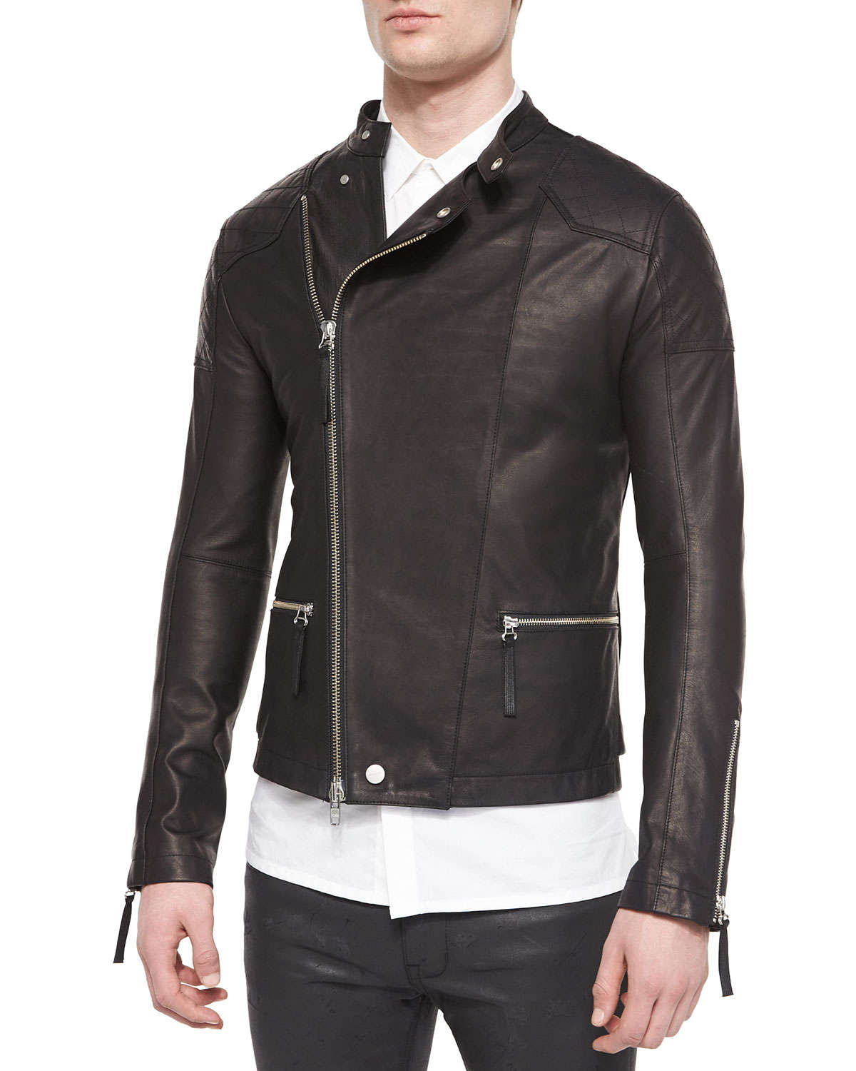 This mens leather jacket features asymmetrical zip closure with wide Genuine Brown Leather Jacket Men - Motorcycle Distressed Lambskin Leather Jackets for Men. by fjackets. $ $ 00 Prime. FREE Shipping on eligible orders. Some sizes/colors are Prime eligible. out of 5 stars