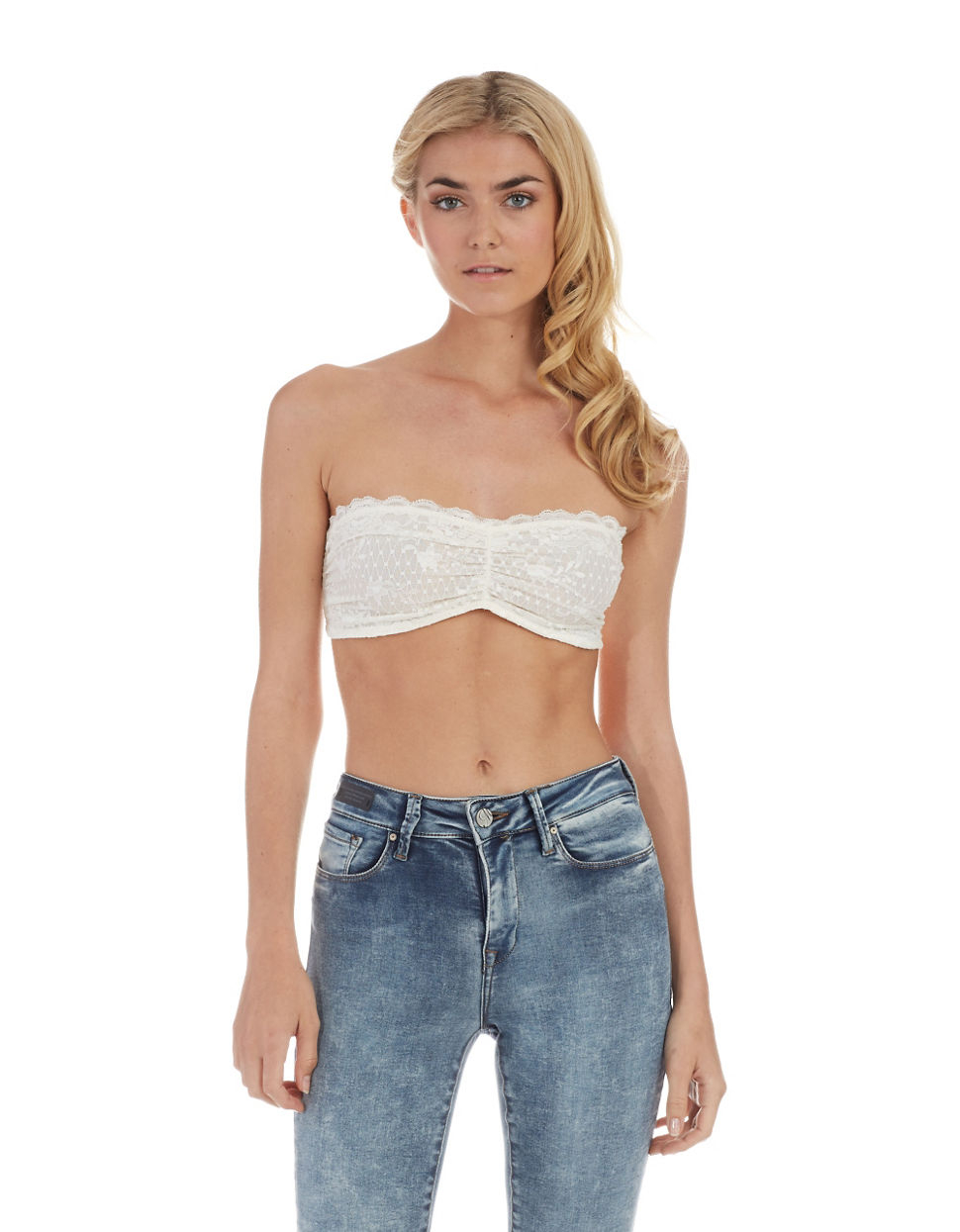 Free People Lace Bra Top In White Lyst