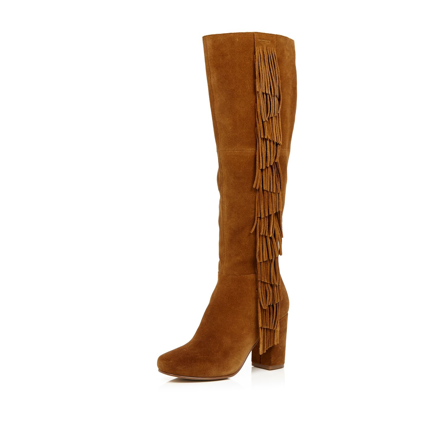 Shop knee high leather boot at Neiman Marcus, where you will find free shipping on the latest in fashion from top designers.