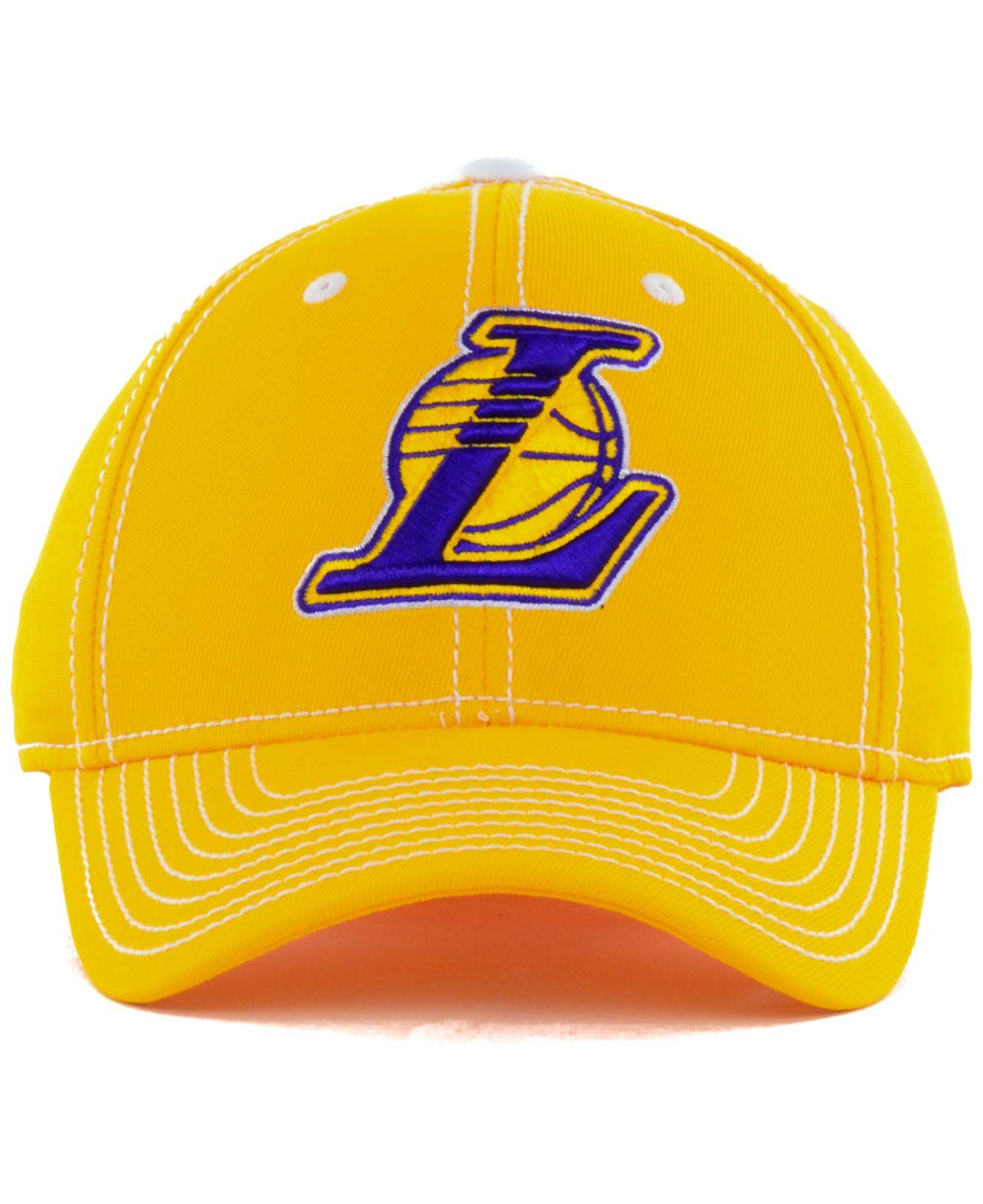 b4569d3b2c8 Lyst - adidas Los Angeles Lakers Nba Primary Team Flex Cap in Yellow ...