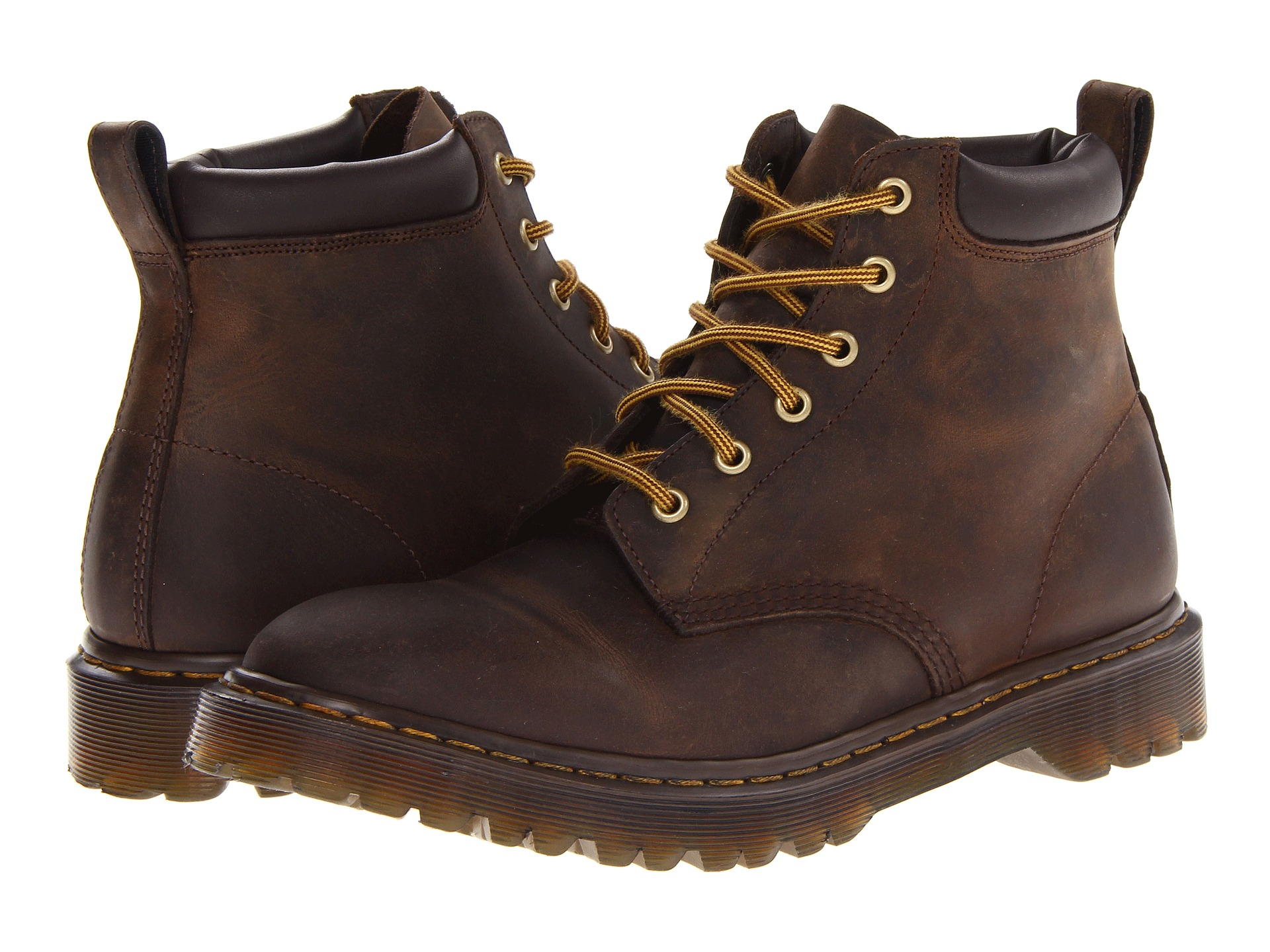 Lyst Dr Martens 939 6 Eye Padded Collar Boot In Brown