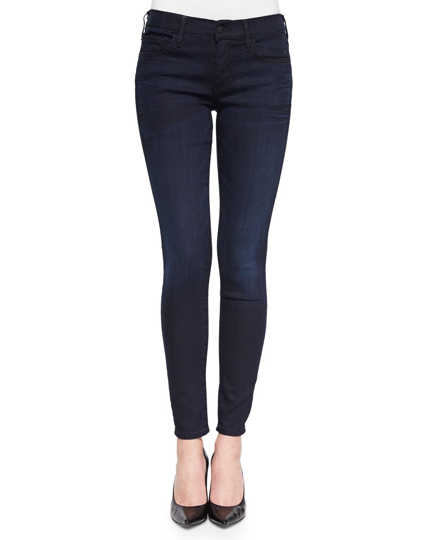 true religion halle dark wash skinny jeans in blue. Black Bedroom Furniture Sets. Home Design Ideas