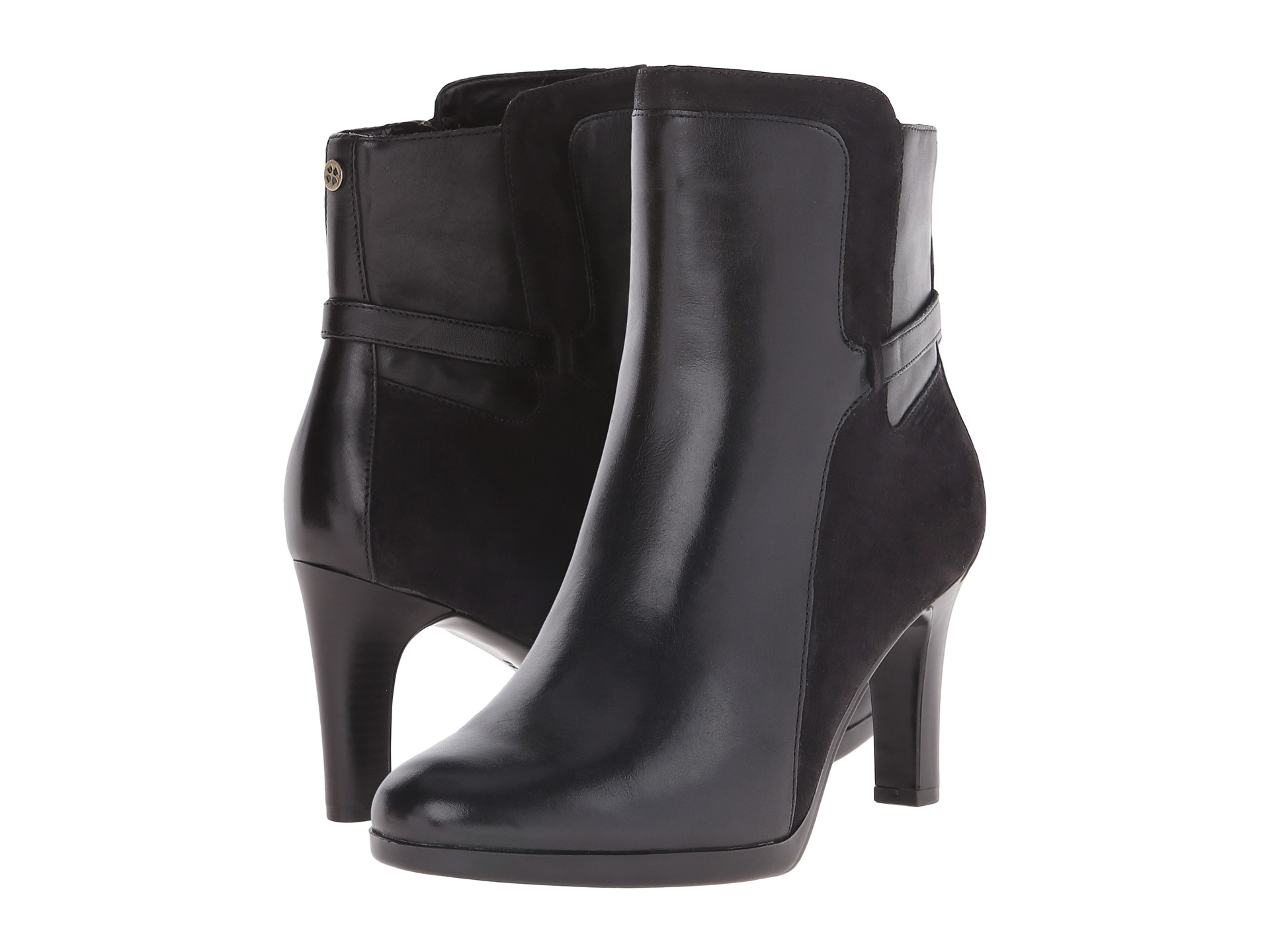 Womens Boots Naturalizer Allison Black Leather/Suede