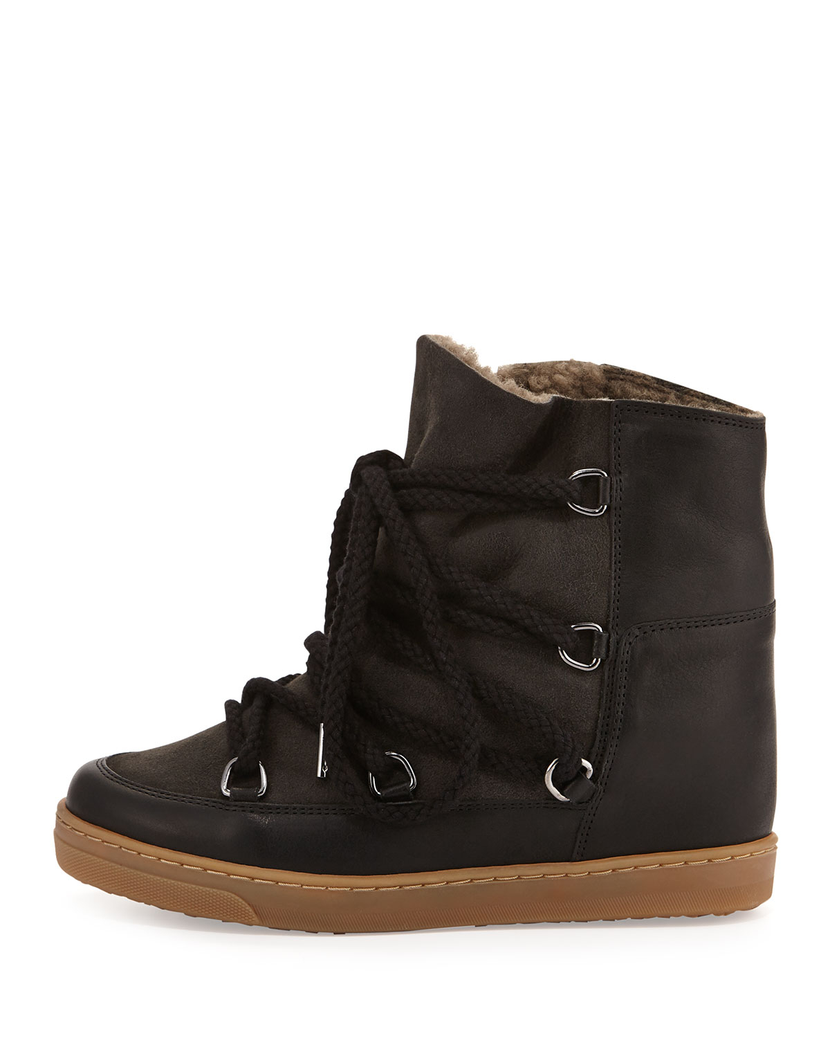 marant nowles shearling lined leather concealed