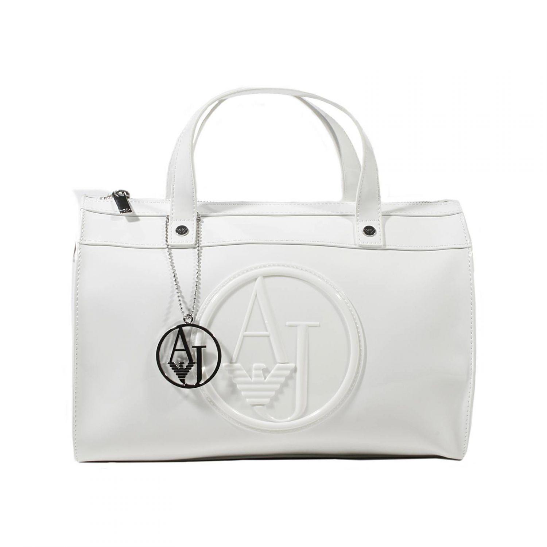 a224c039bd59 ... Lyst - Armani Jeans Handbag Trunk Bag Patent Leather 31X25X1 wholesale  dealer 8a827 966c2 ...