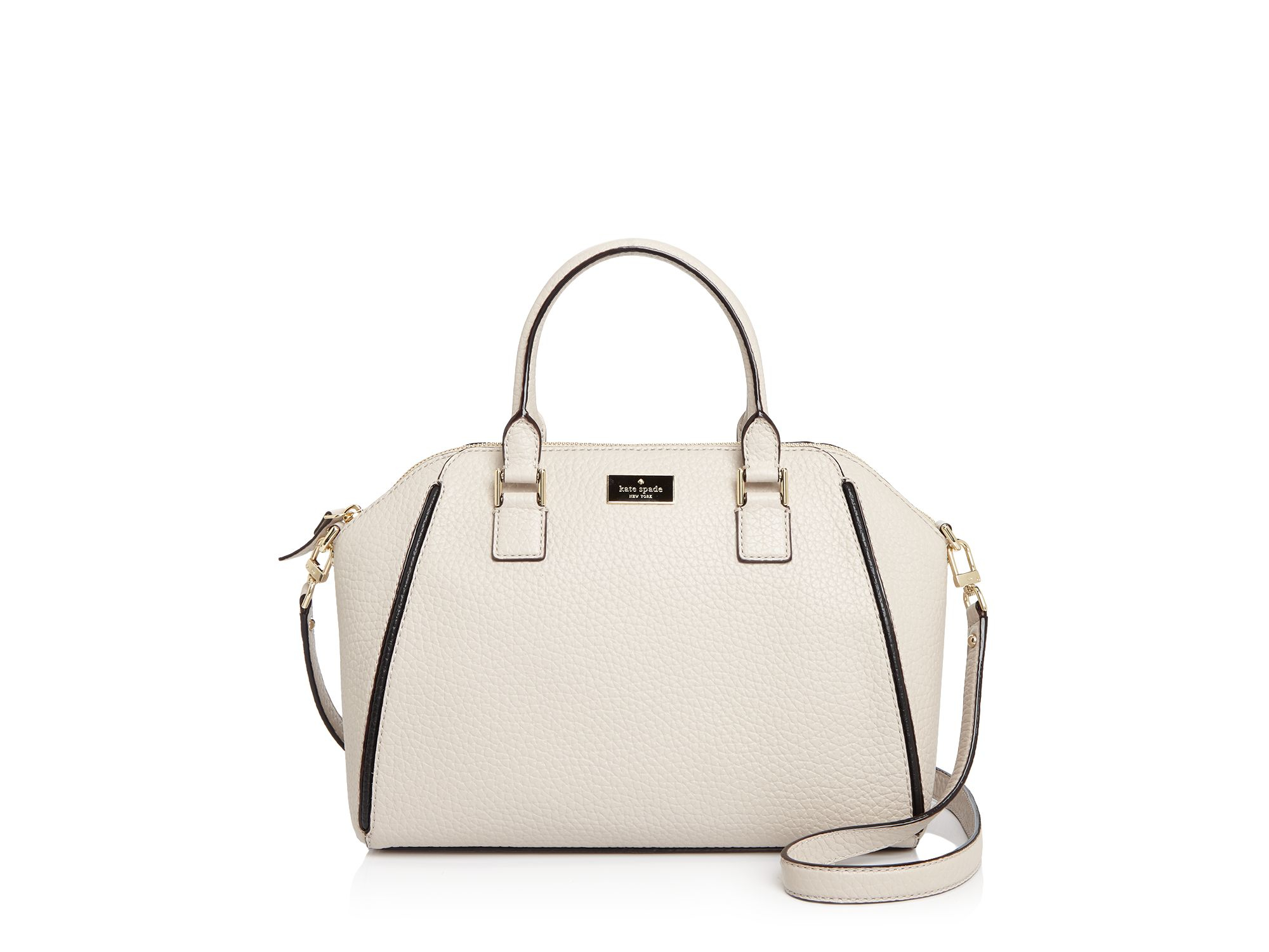 d8e070814d444 Lyst - Kate Spade Prospect Place Pippa Satchel in Natural