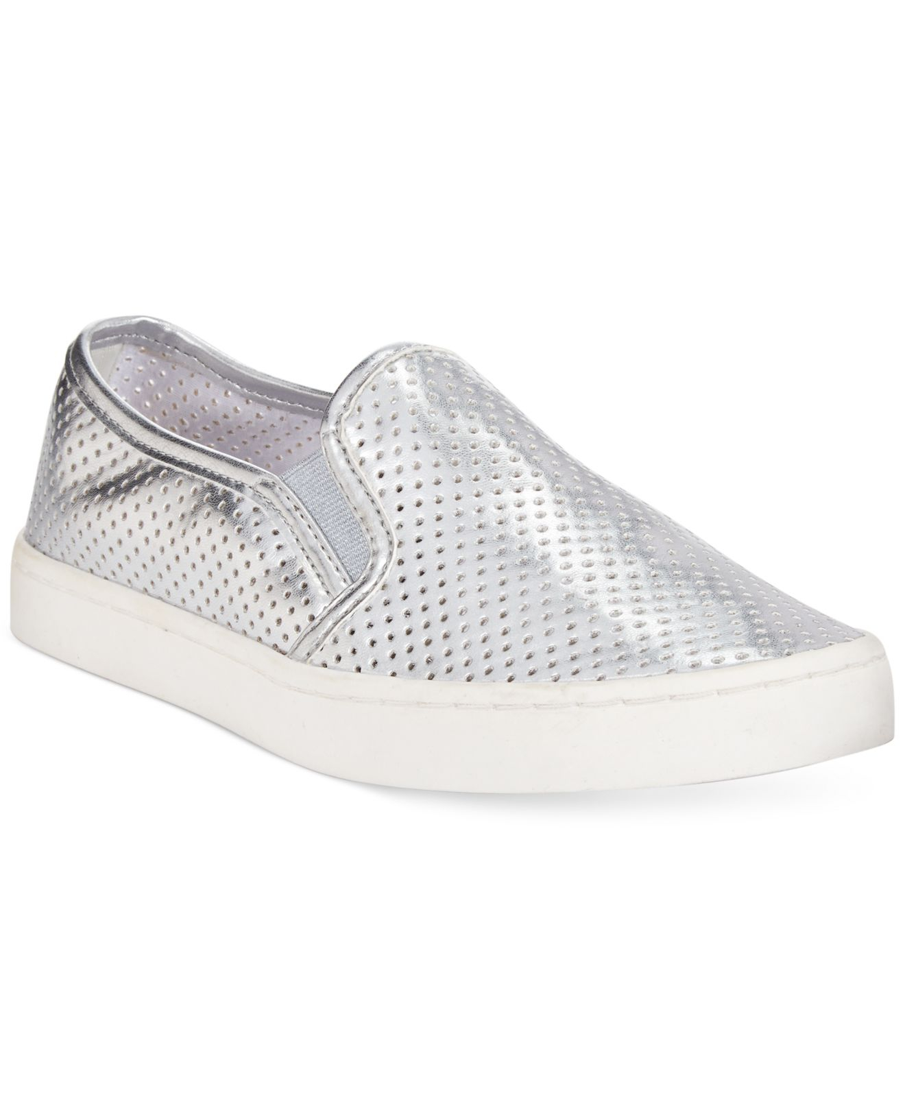 391ec0596888 Report Arvon Perforated Slip On Sneakers in Metallic - Lyst