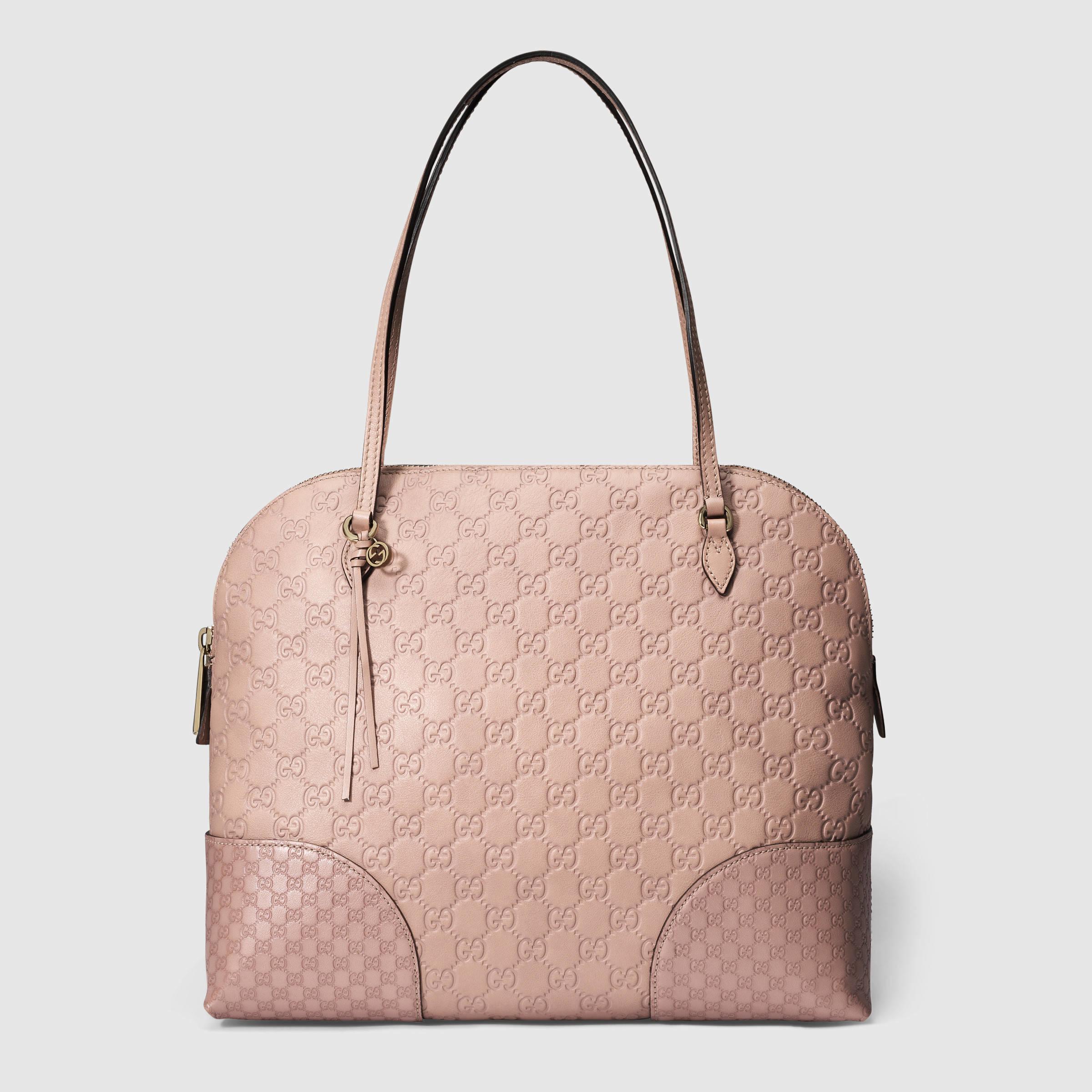 7991f7fd857 Lyst - Gucci Bree Guccissima Shoulder Bag in Pink